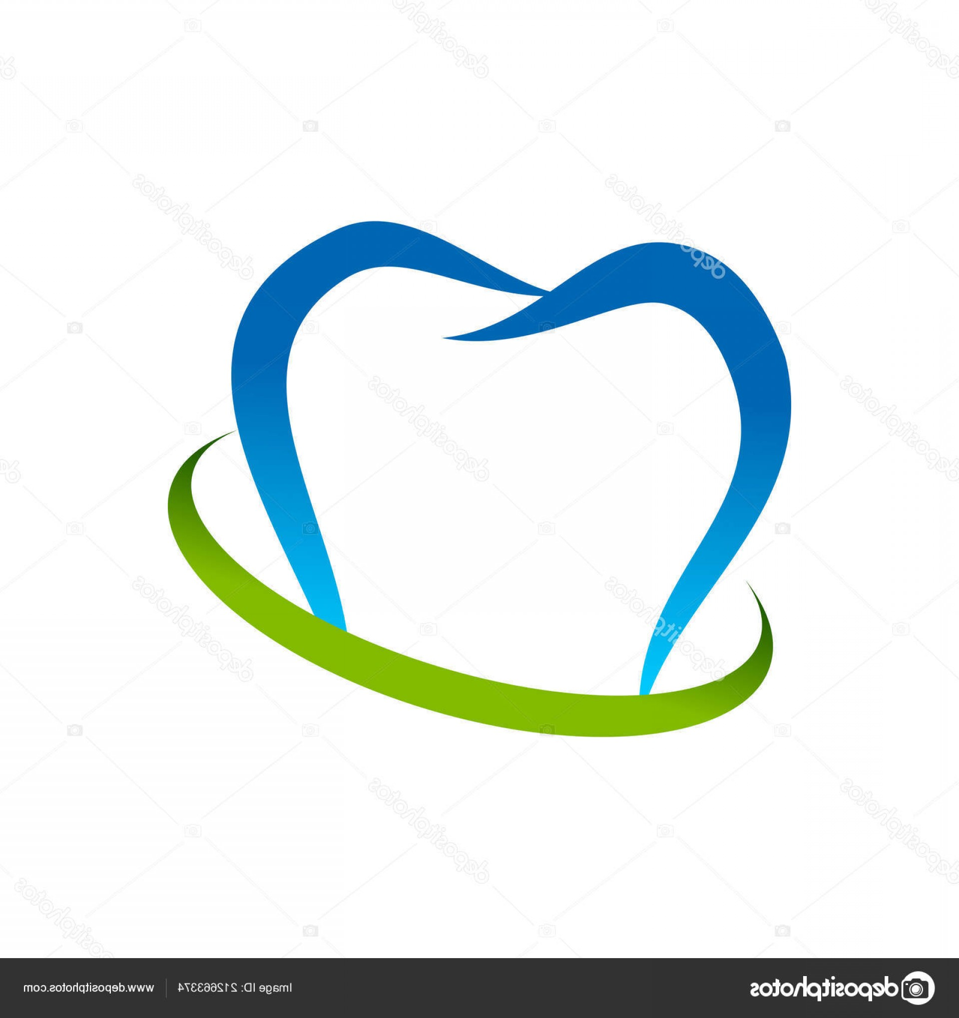 Swoosh Logo Vector Art: Stock Illustration Dental Consulting Abstract Teeth Swoosh