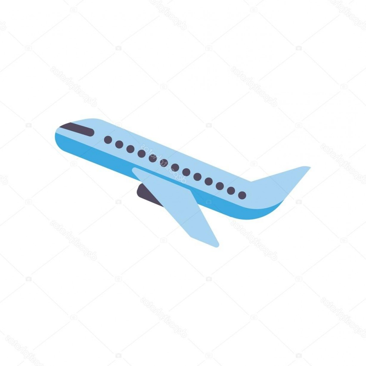 Airplane Travel Vectors: Stock Illustration Design Logo Travel Plane Flight