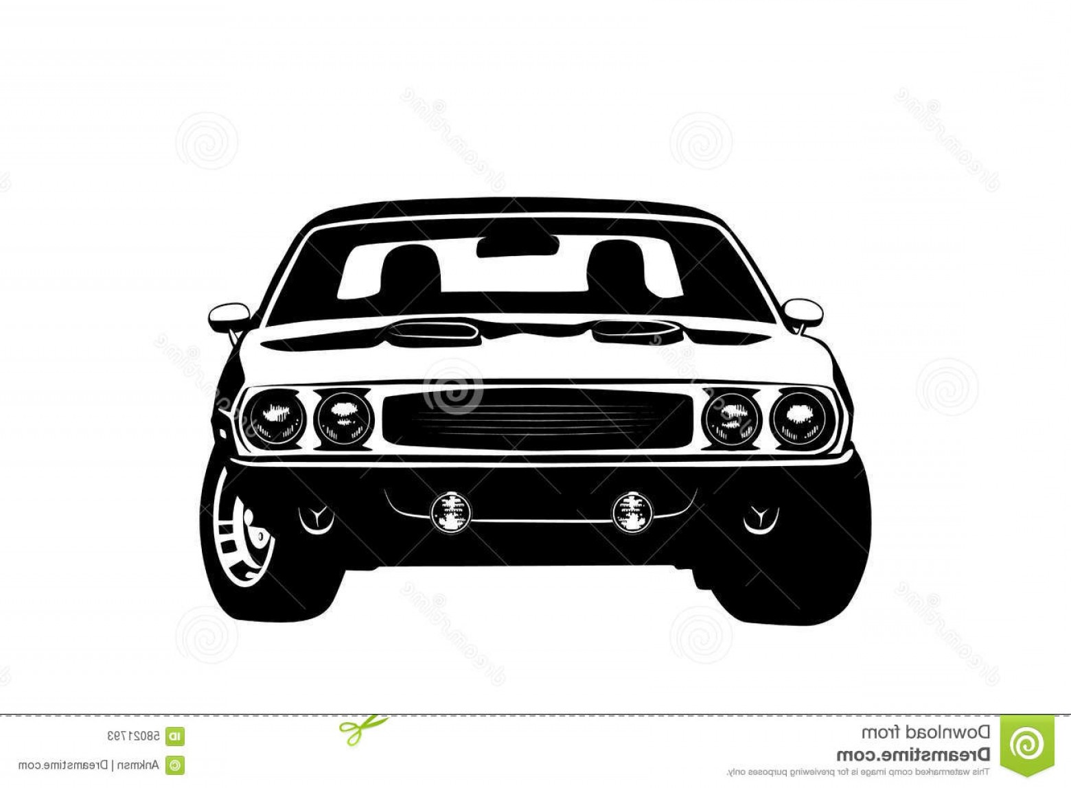 Muscle Car Silhouette Vector High Res: Stock Illustration Design Sports Car Muscle Car Stock Vector Illustration Three Sportcar Isolated White Background Image