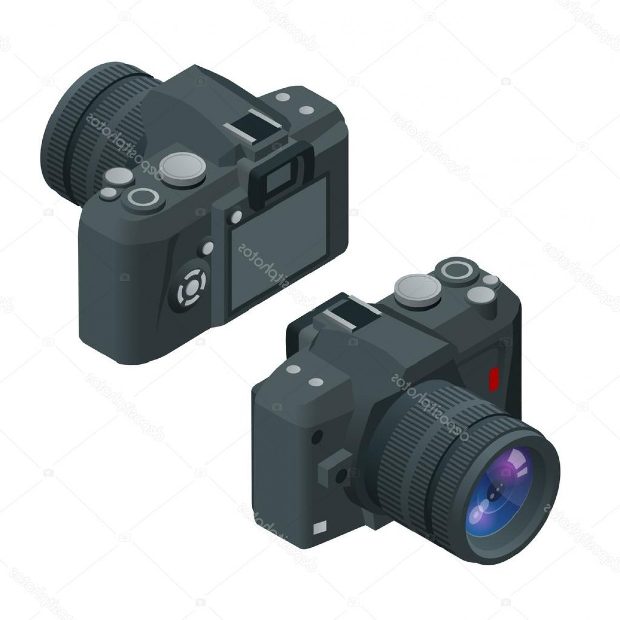 SLR Camera Vector: Stock Illustration Digital Photo Camera Slr Camera