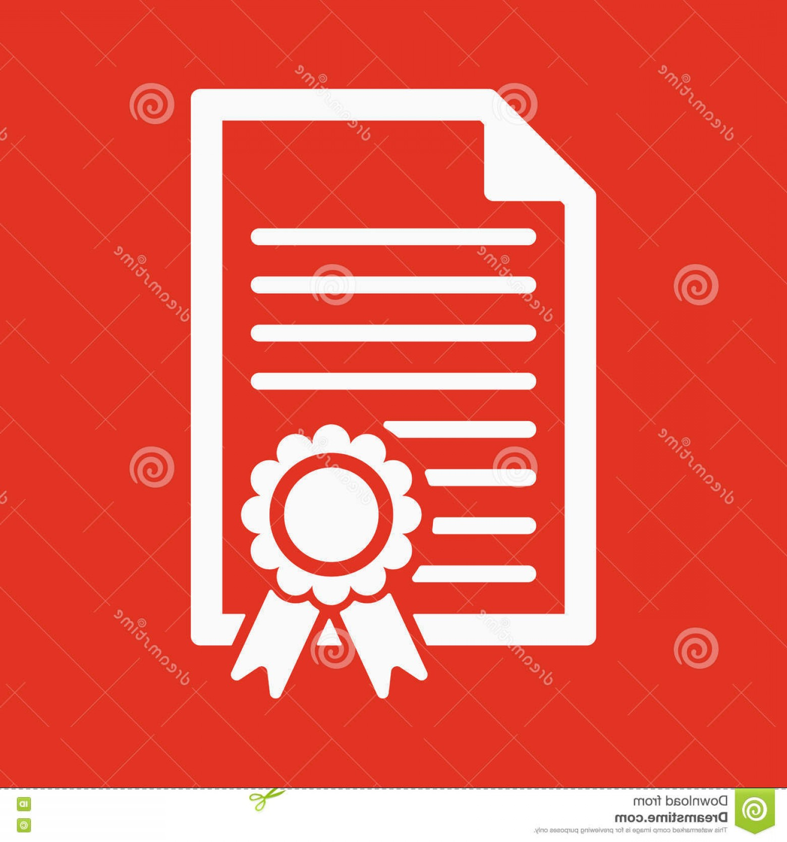 Diploma Icon Vector: Stock Illustration Diploma Icon Certificate Symbol Flat Vector Illustration Image