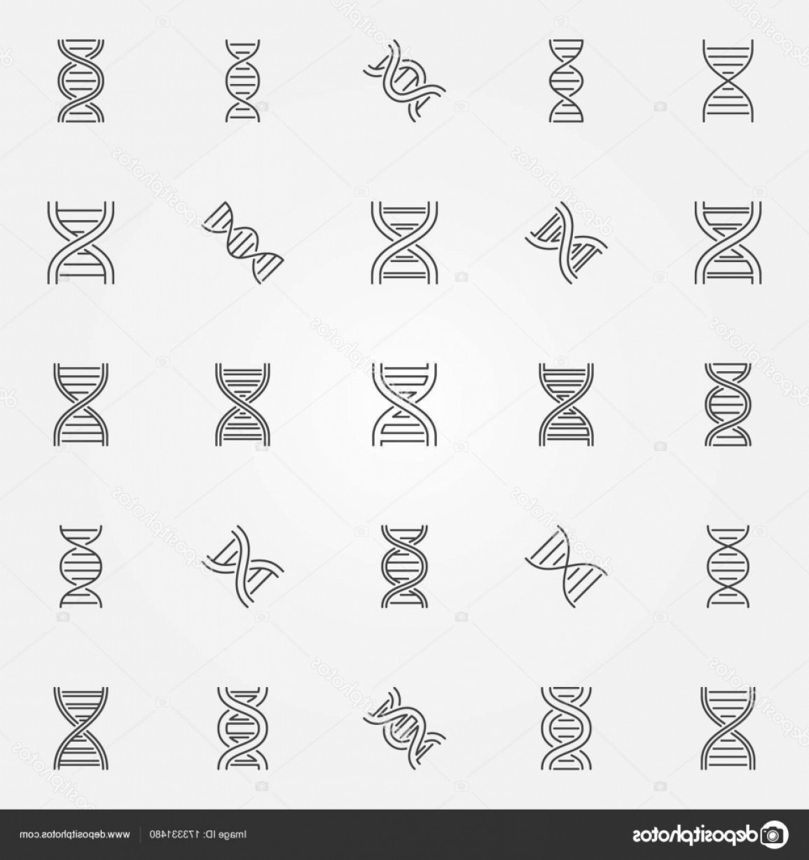 DNA Helix Vector: Stock Illustration Dna Icons Set Vector Dna