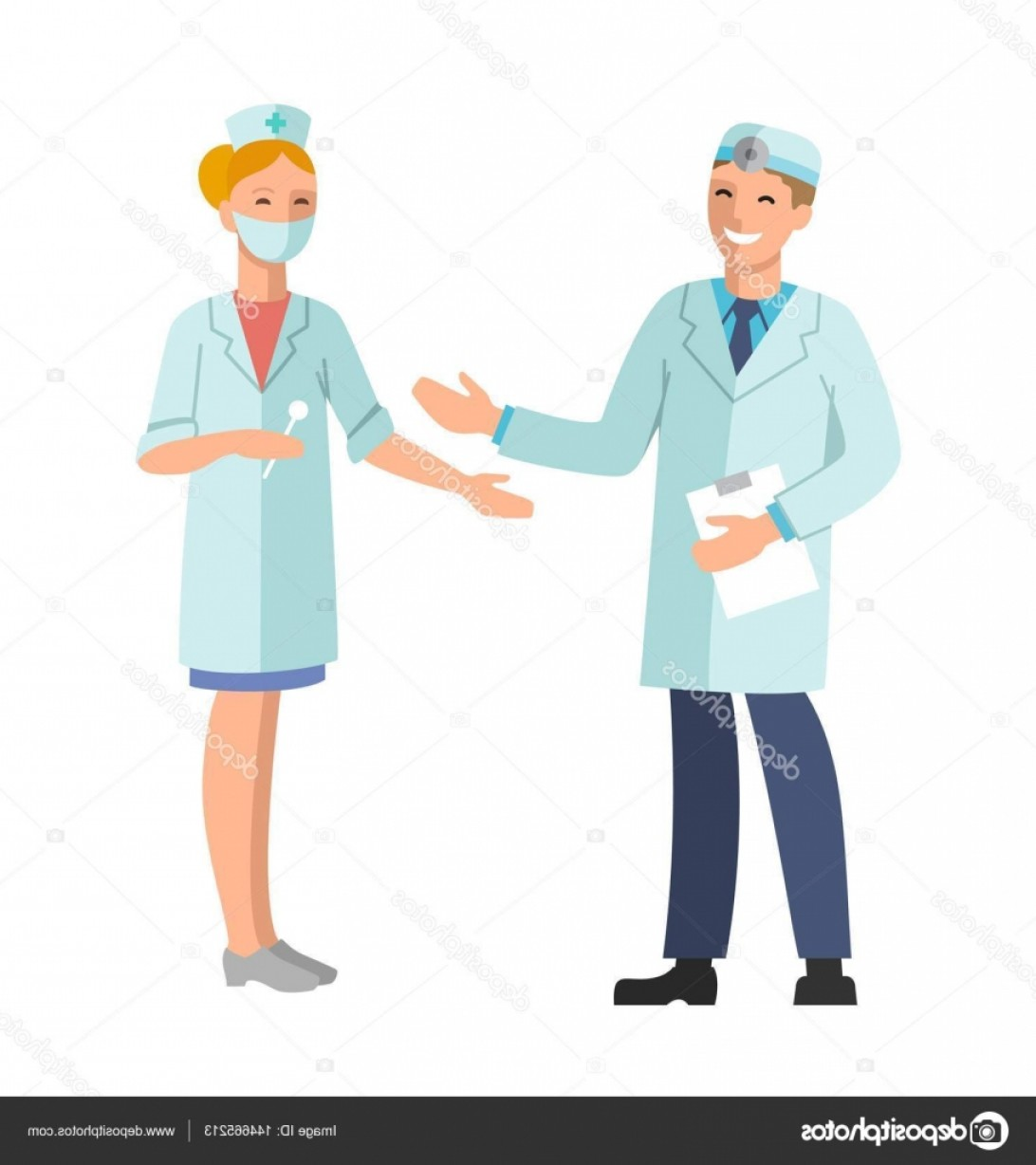 Nurse Juggling Vector: Stock Illustration Doctor And Nurse Vector Illustration