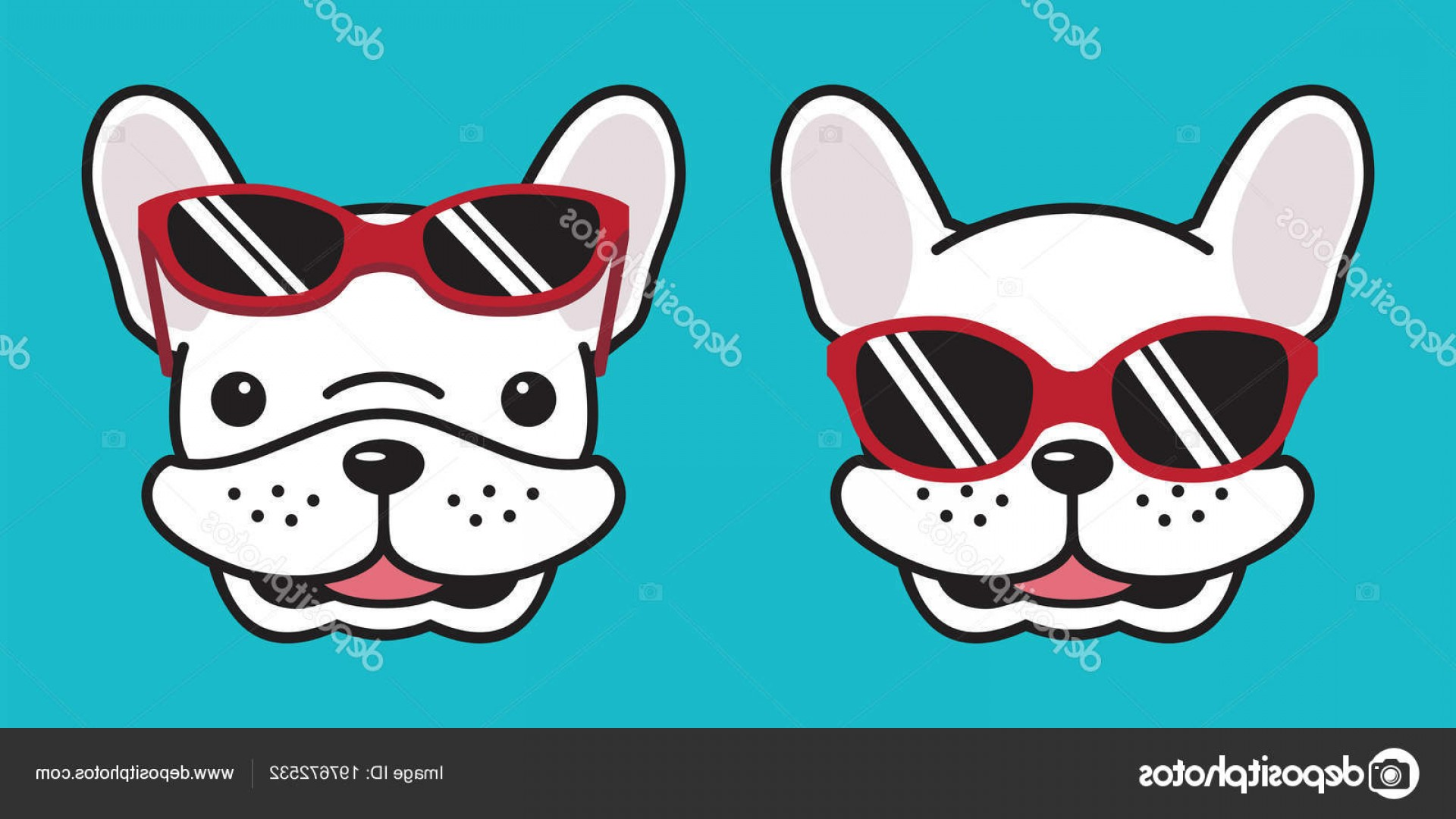Vector Smiling Bulldog: Stock Illustration Dog French Bulldog Vector Smile