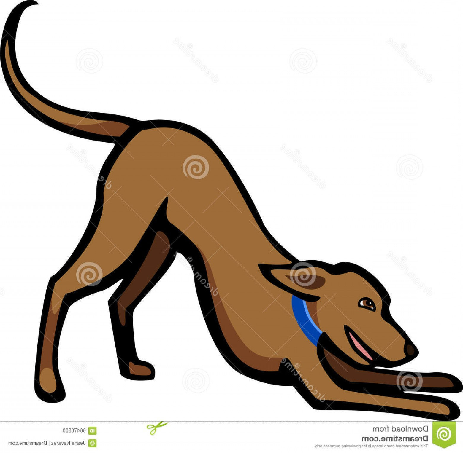 Bpxer Vector Art Happy Dog: Stock Illustration Dog Play Bow Stylized Illustration Happy Gesture Eps File Pending Image