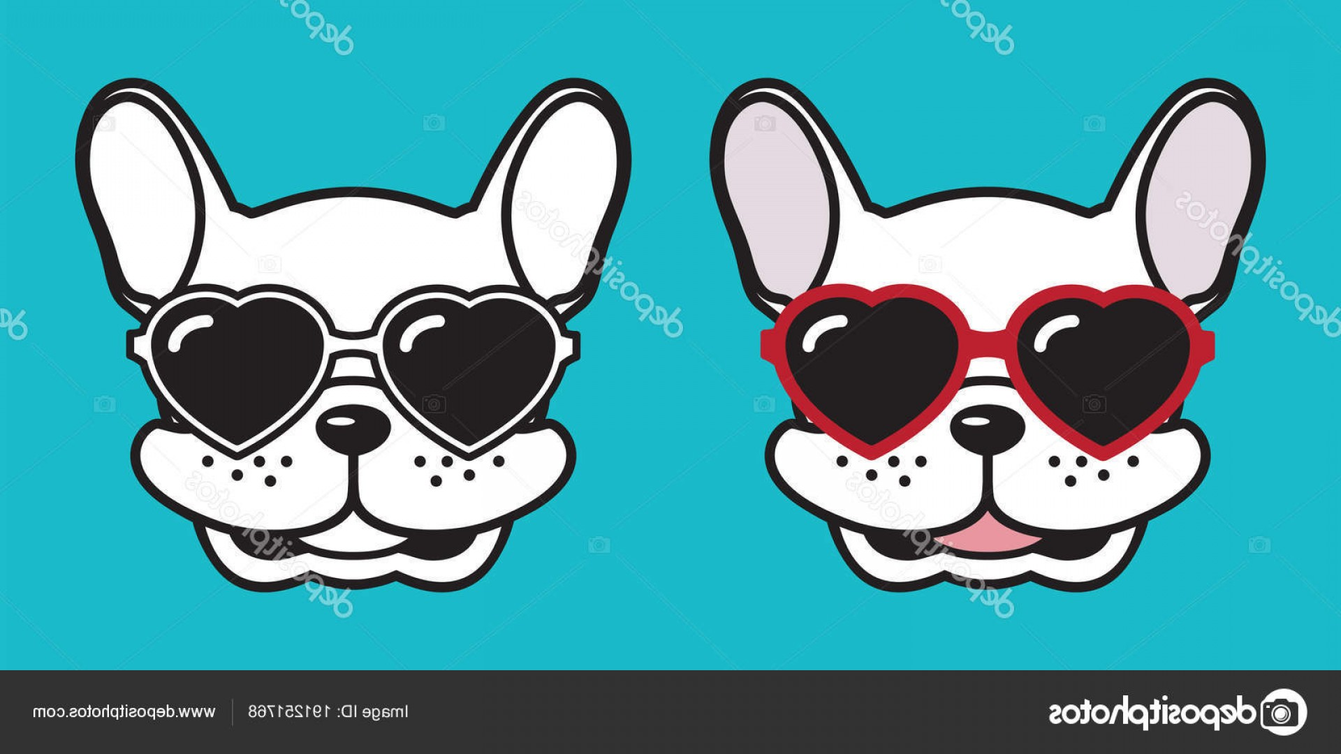 Vector Smiling Bulldog: Stock Illustration Dog Vector French Bulldog Pug