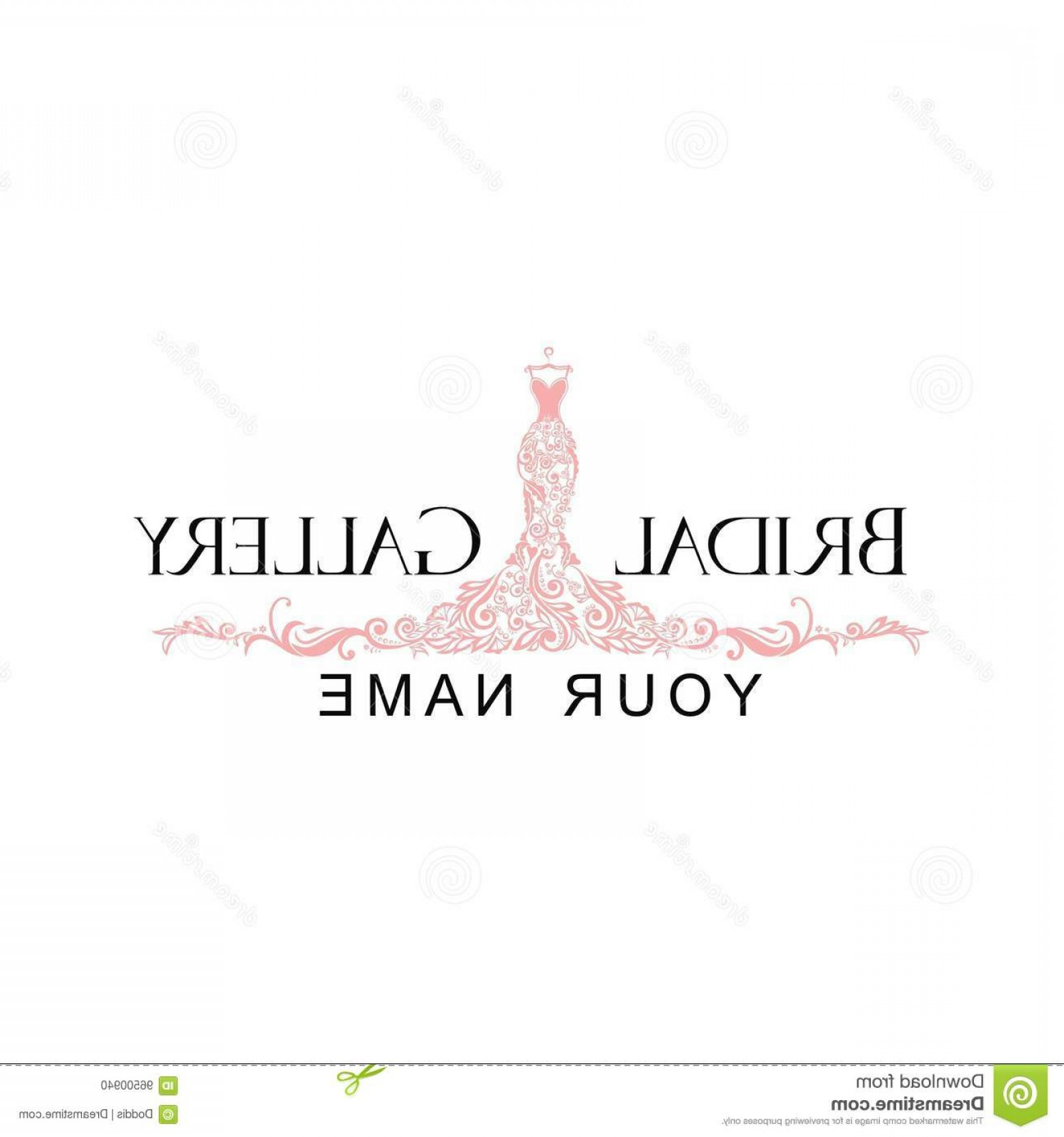 Vector Boutique: Stock Illustration Dress Boutique Bridal Logo Illustration Vector Design Template Image