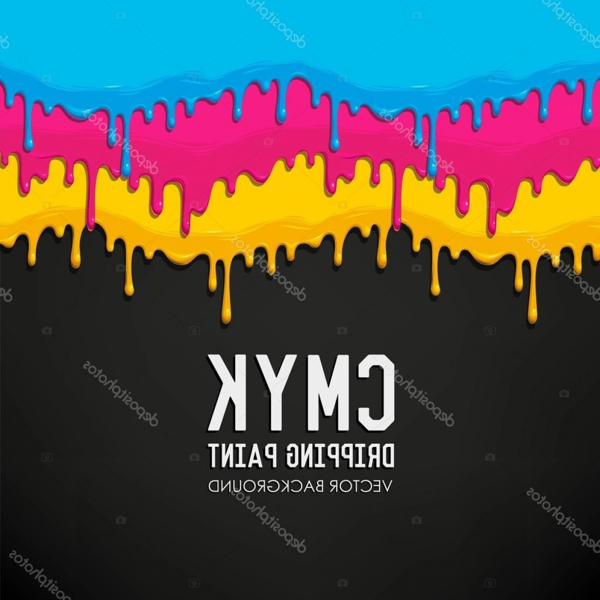 Dripping Paint Vector Illustration: Stock Illustration Dripping Paint Vector Background