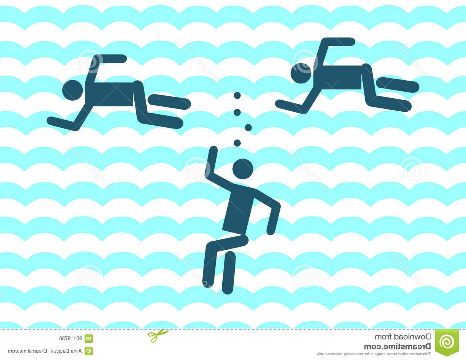 Man Drowning Vector: Stock Illustration Drowning Man Icon Illustration Sign Symbol Vector Pictogram Pool Image