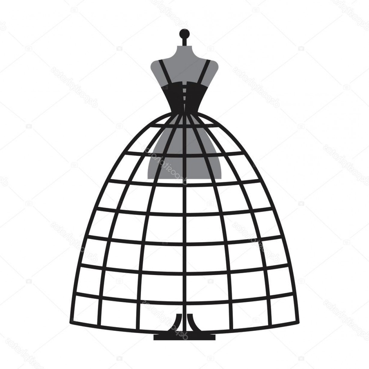 Vector Images Of Black And White Dresses: Stock Illustration Dummy Dress Illustration Vector