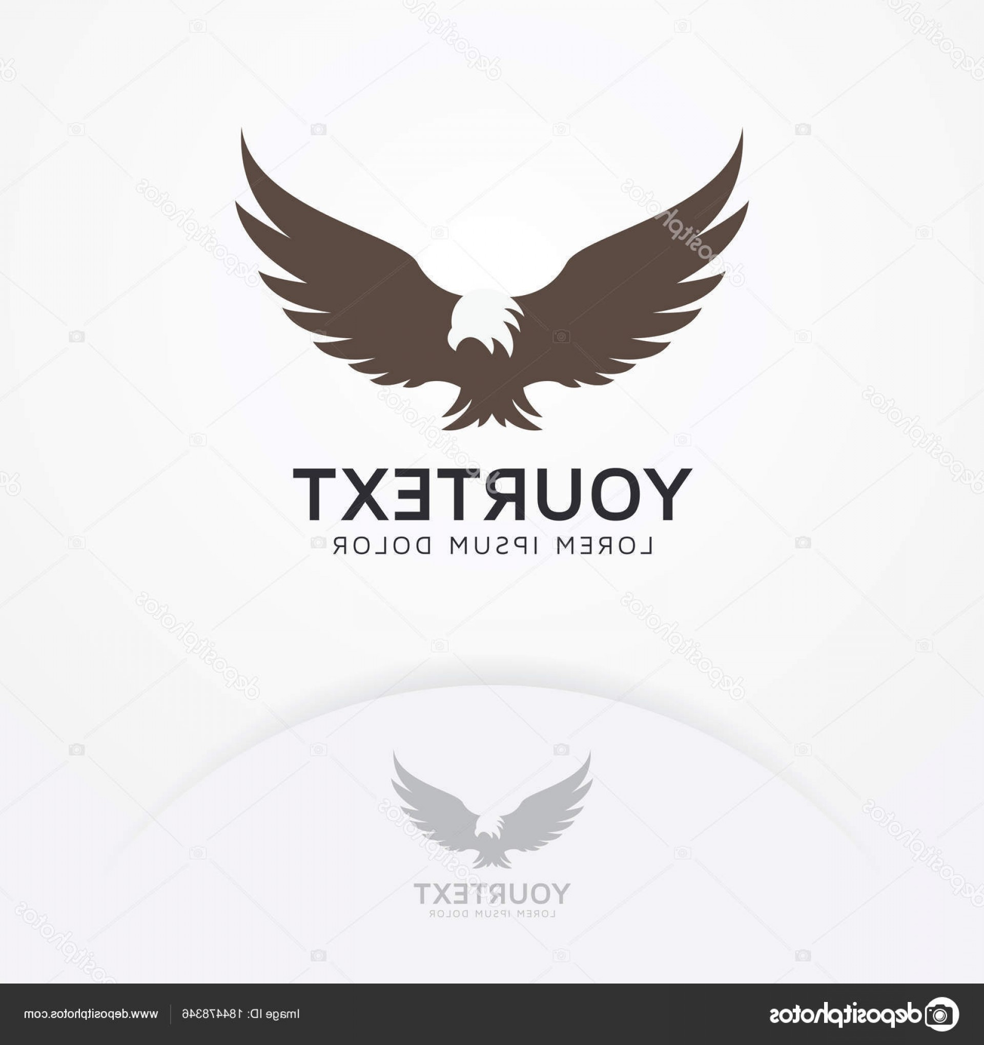Falcon Silhouette Vector: Stock Illustration Eagle Fly Logo Silhouette Eagle
