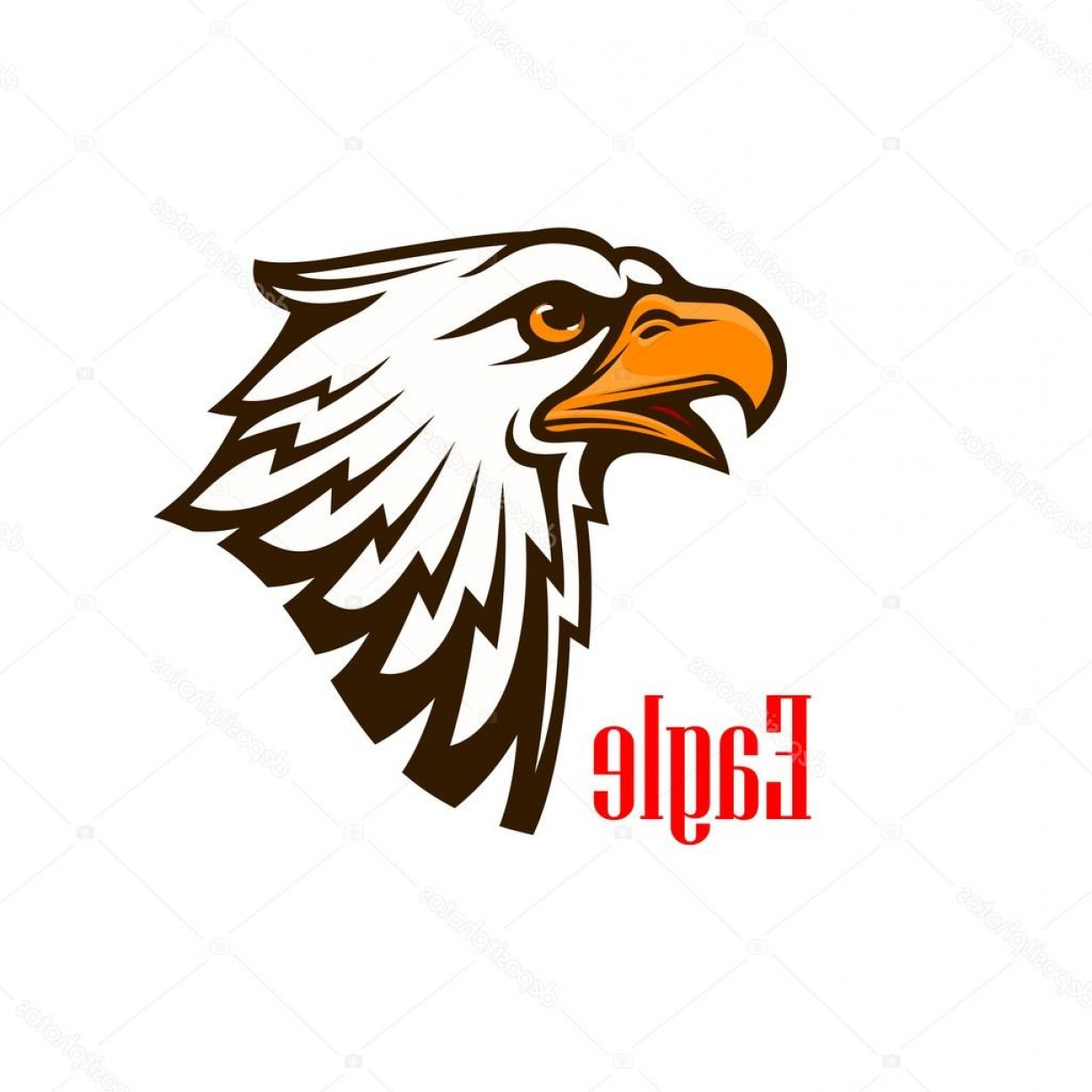 Patriotic Bald Eagle Vector: Stock Illustration Eagle Head Vector Mascot Emblem