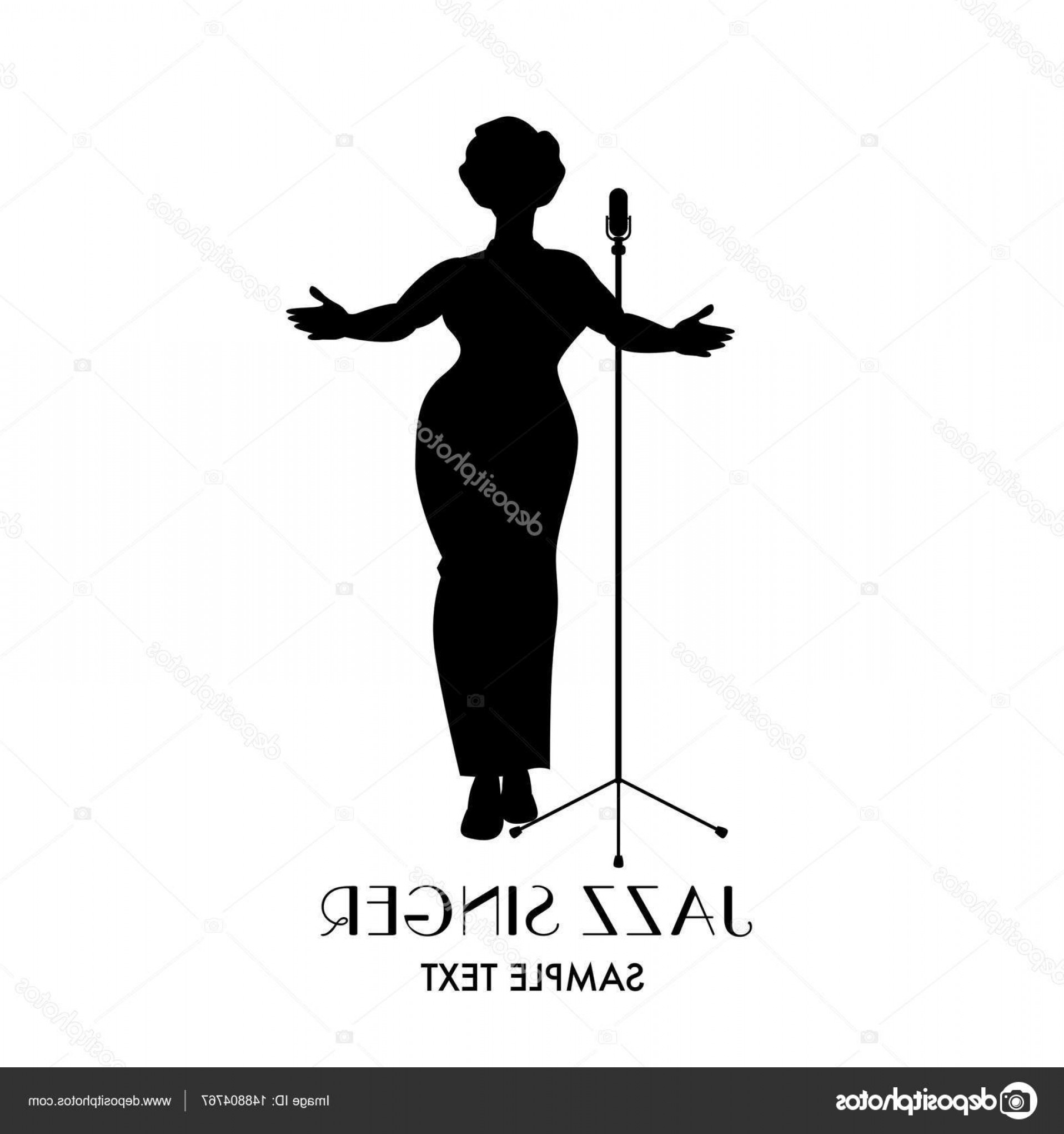 Elegant Woman Silhouette Vector: Stock Illustration Elegant Curvy And Sexy Jazz
