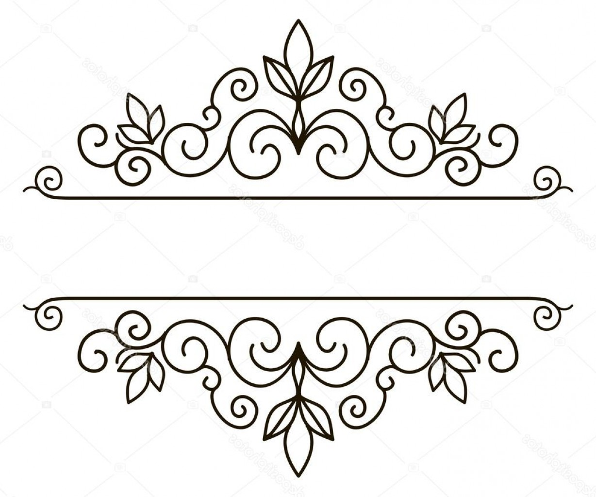 Flower Elements Vector: Stock Illustration Elegant Frame Banner Floral Elements