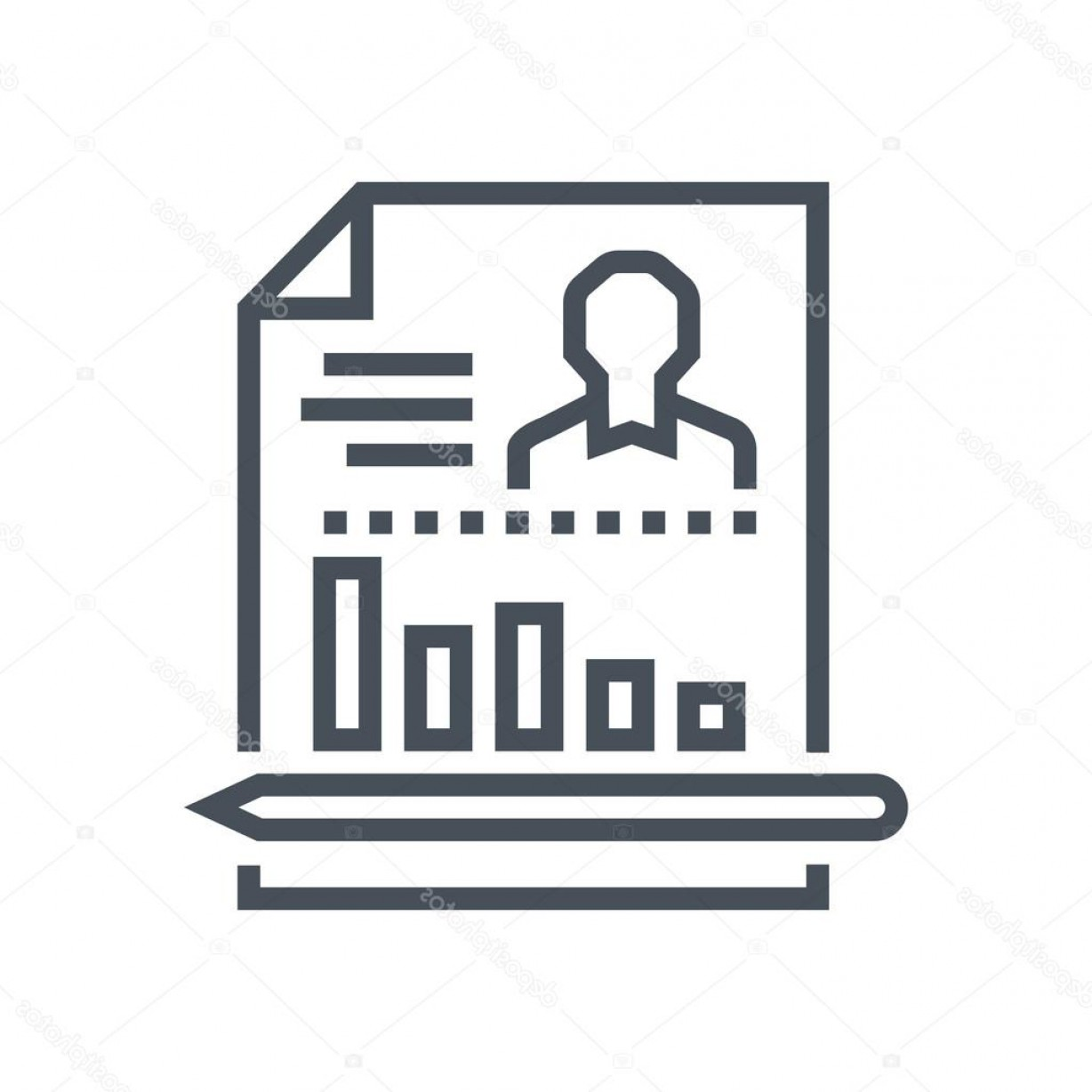Report Icon Vector: Stock Illustration Employee Performance Report Icon