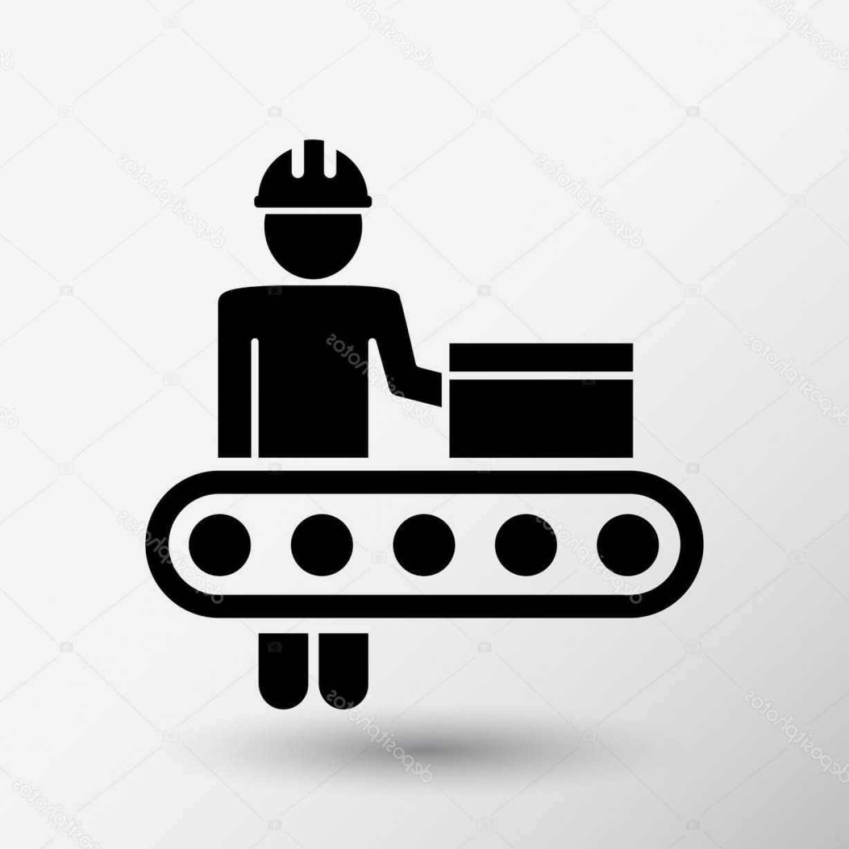 Workshop Icon Vector: Stock Illustration Engineering Workshop Industrial Operation Icon