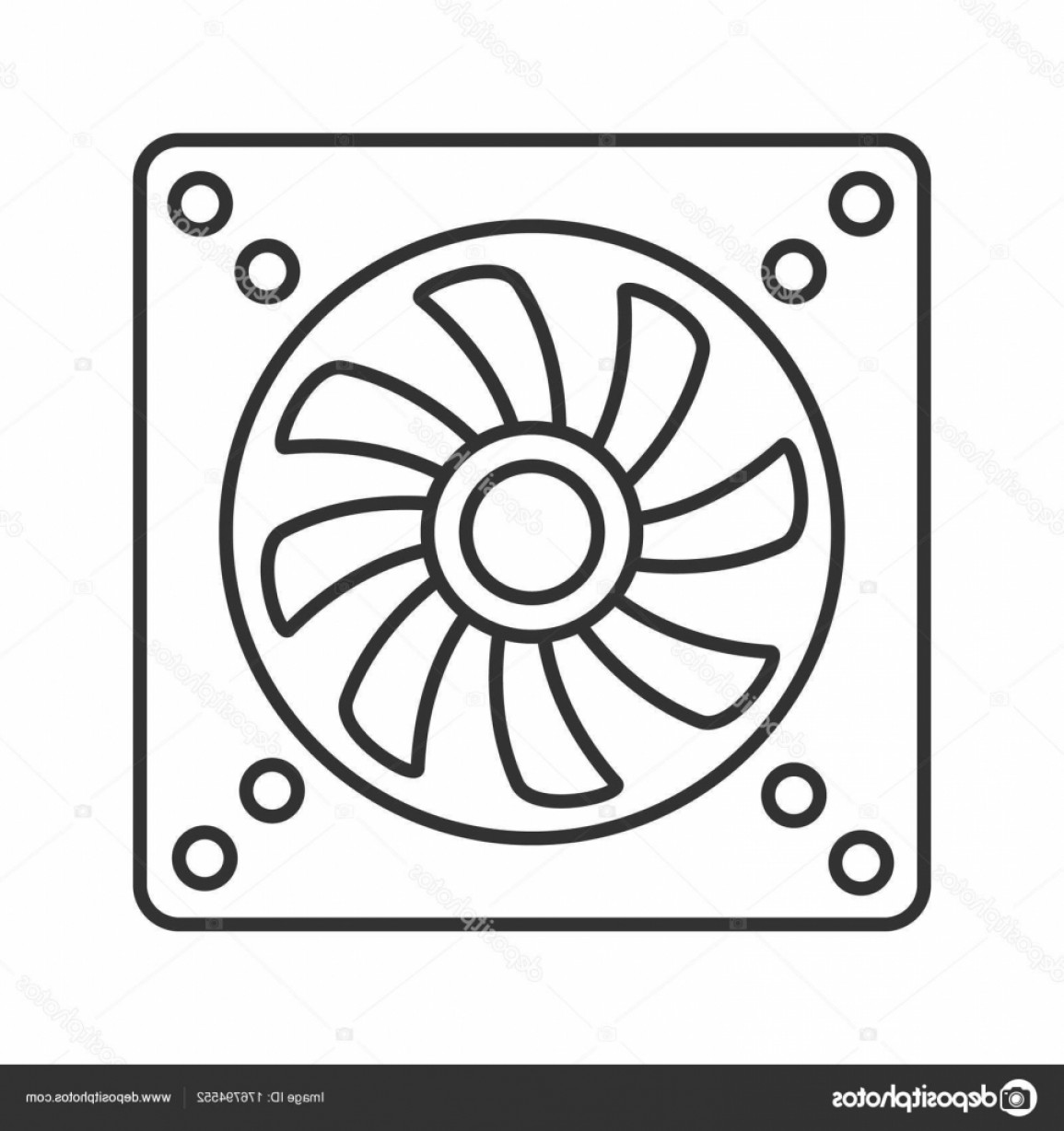Vector Exhaust Fan: Stock Illustration Exhaust Fan Linear Icon Conditioning