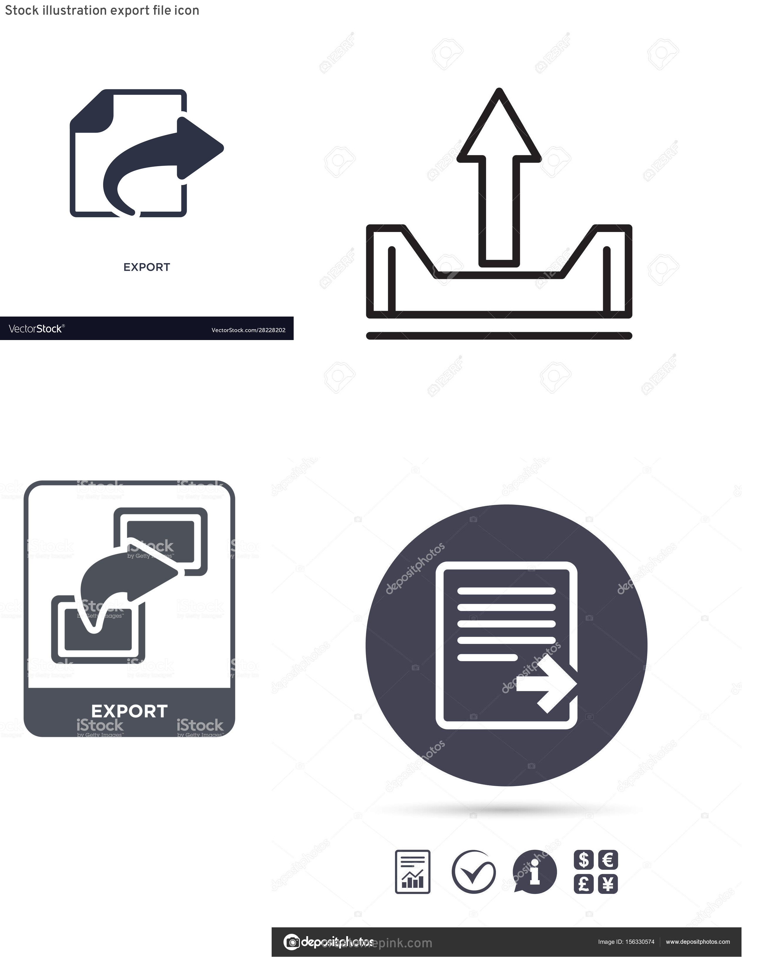 Export Icon Vector: Stock Illustration Export File Icon