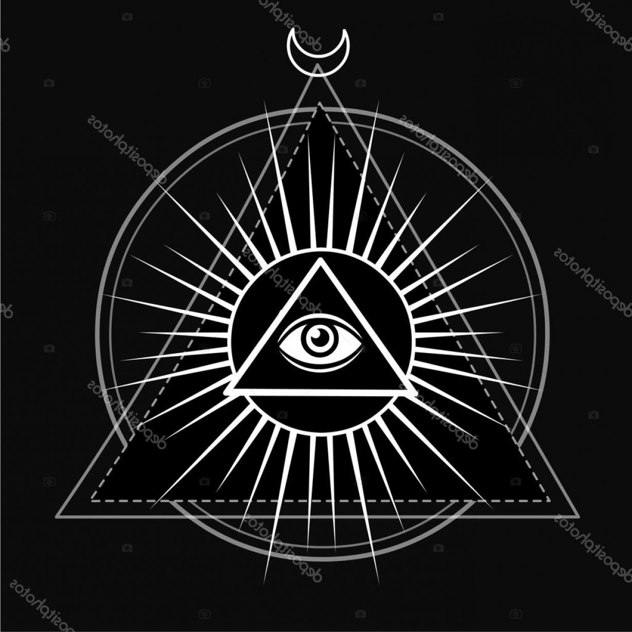 Pyramid With Eye Of Providence Vector: Stock Illustration Eye Of Providence All Seeing