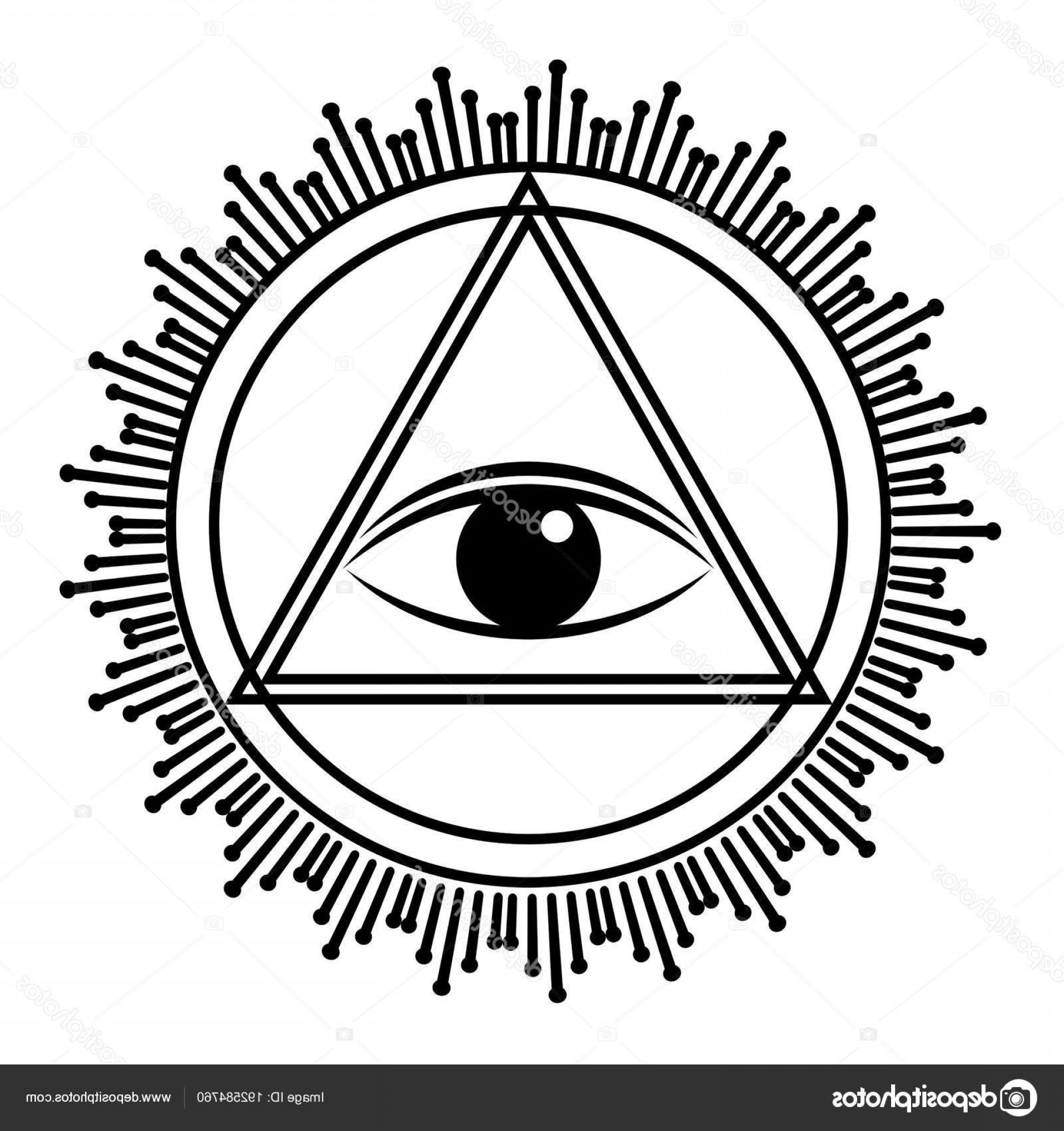 Pyramid With Eye Of Providence Vector: Stock Illustration Eye Of Providence Sign All