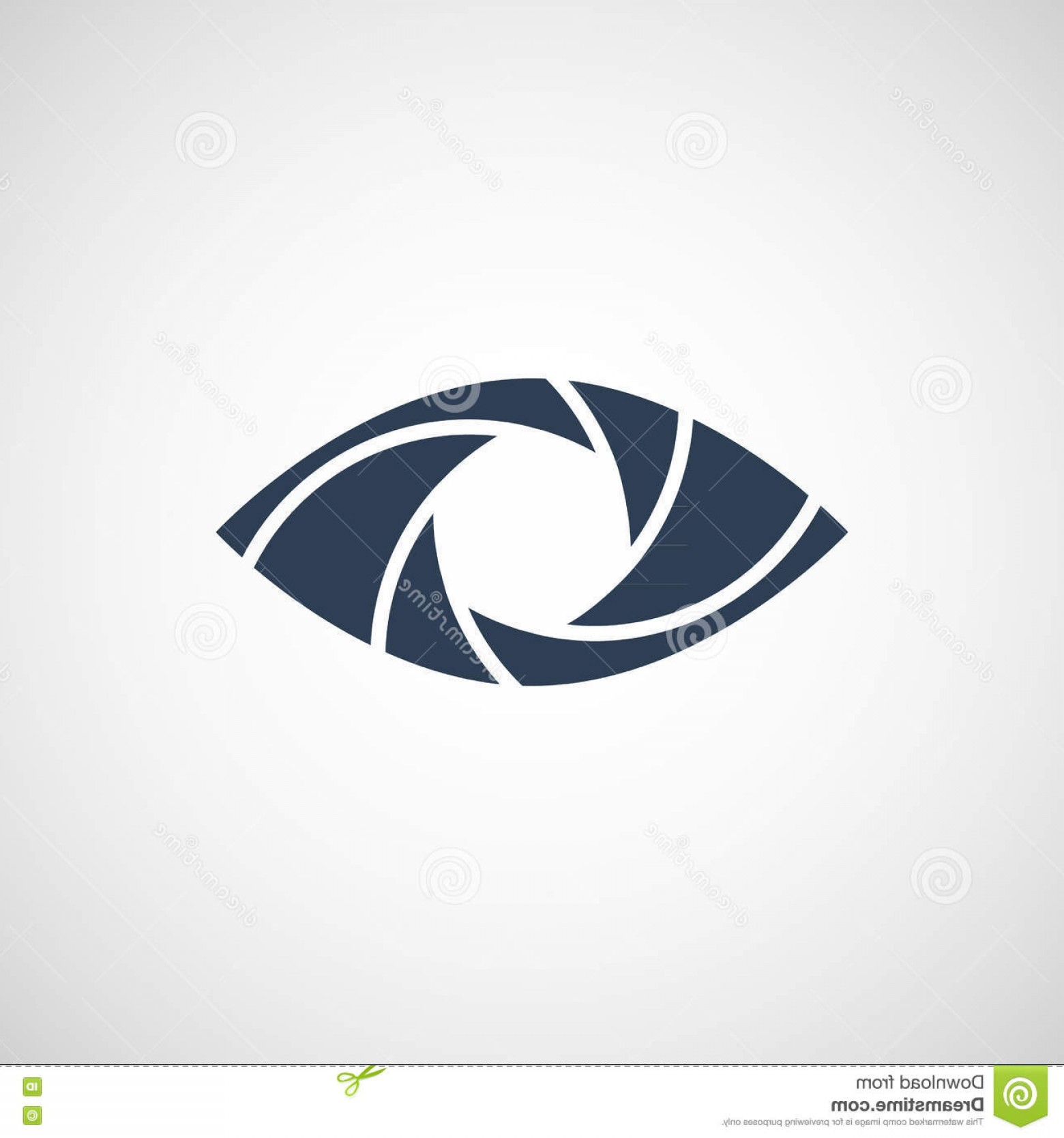 Eye Vector Logo: Stock Illustration Eye Shutter Vector Logo Design Template Image