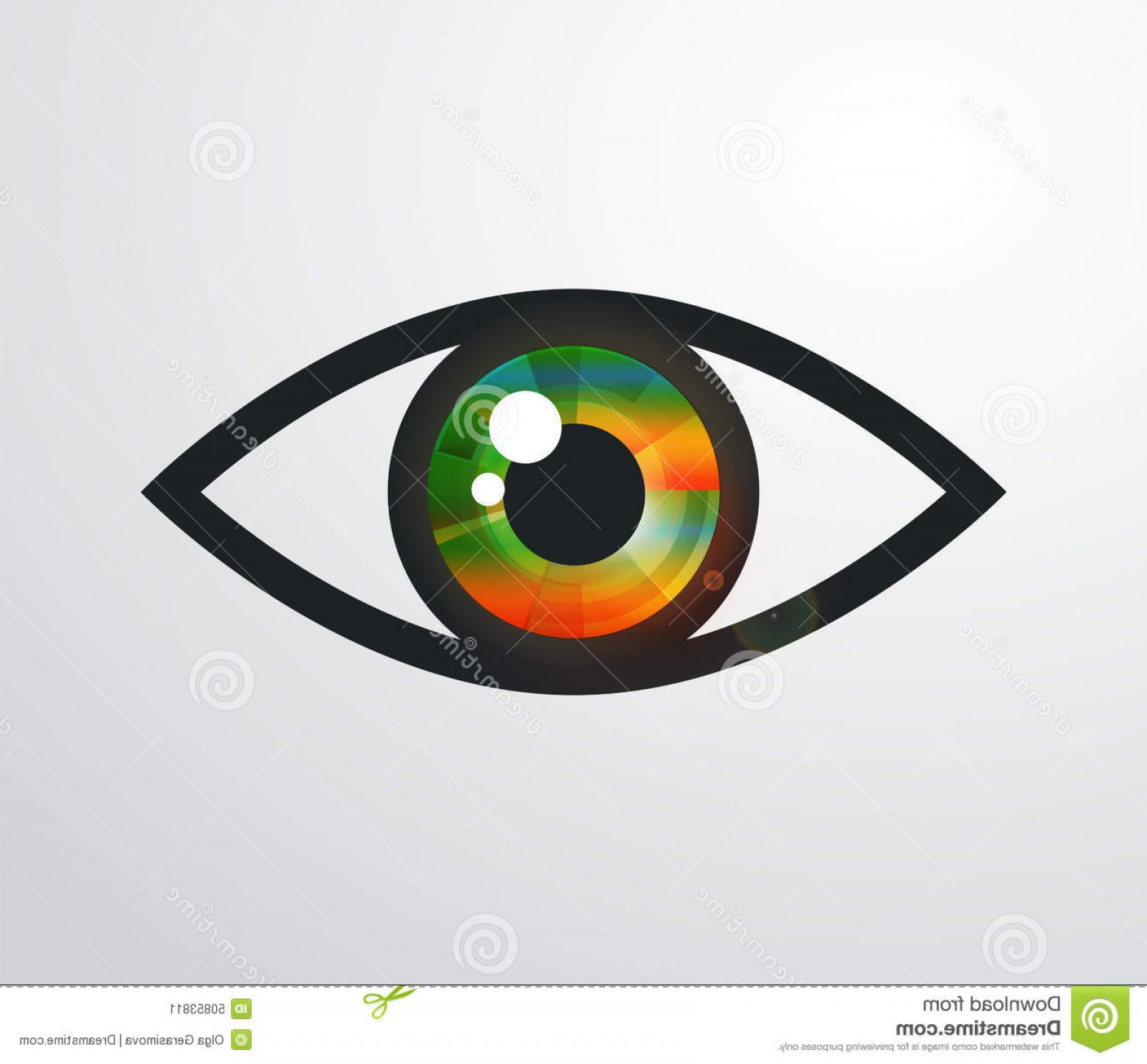 Eye Vector Logo: Stock Illustration Eye Vector Logo Design Template Image
