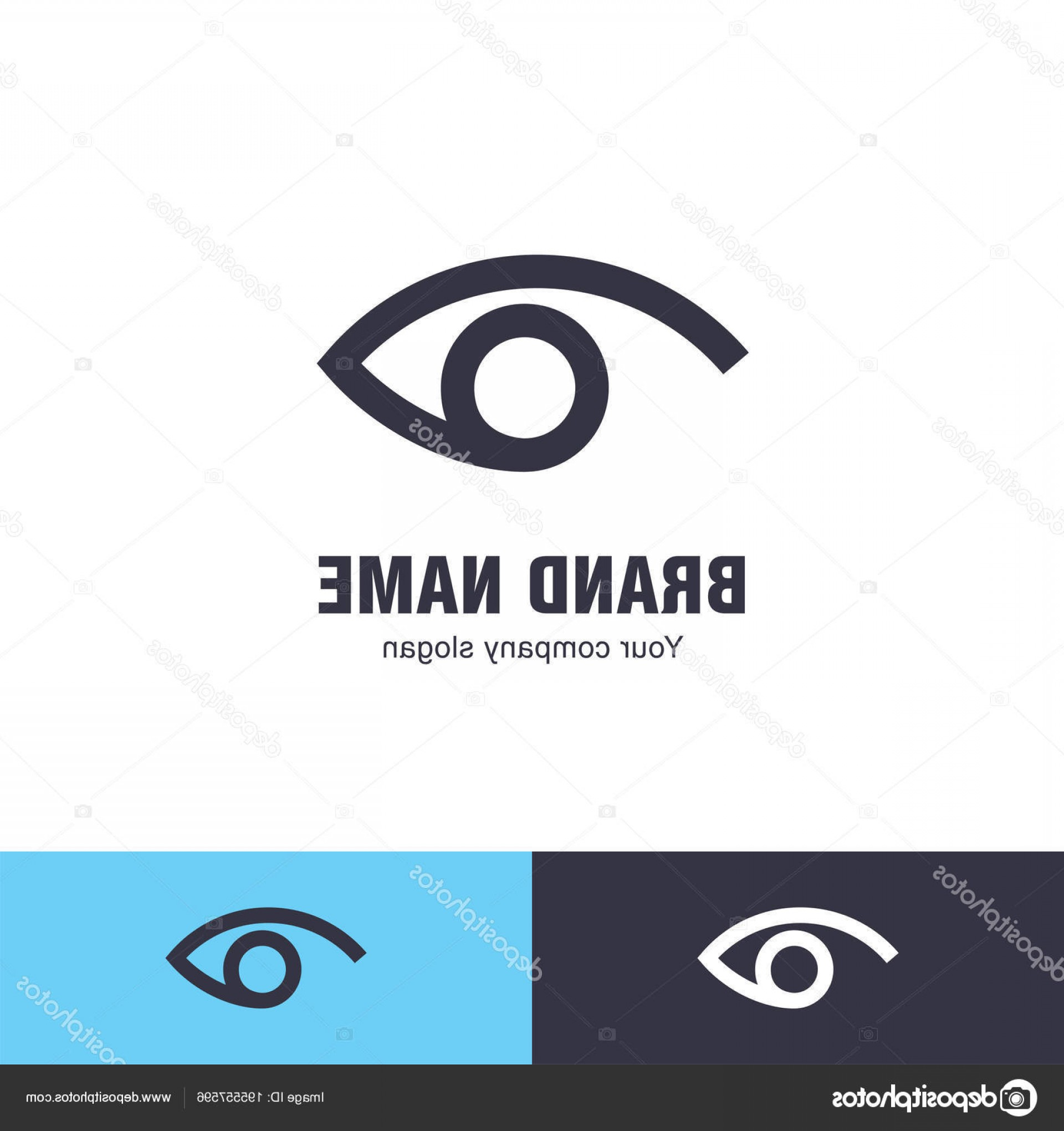 Eye Vector Logo: Stock Illustration Eye Vector Logo Design Template