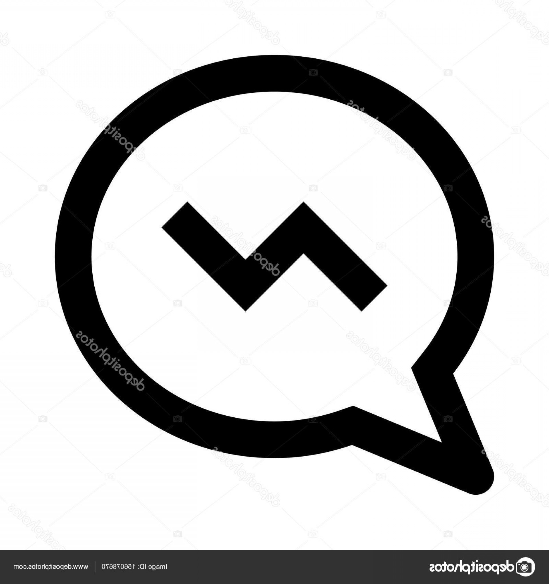 Black Facebook Logo Vector: Stock Illustration Facebook Messenger Icon Illustration