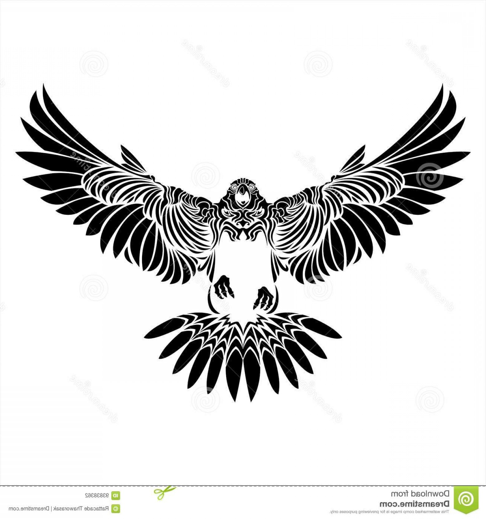 Falcon Silhouette Vector: Stock Illustration Falcon Silhouette Art Style Tattoo Vector Bird Image
