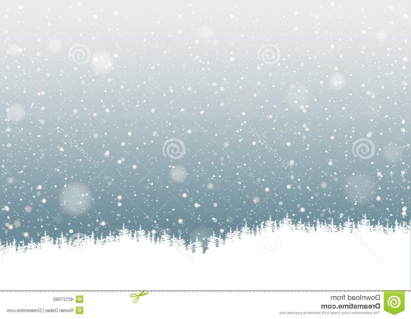 Snow Falling Vector Free: Stock Illustration Falling Snow Forest Silhouette Background Illustration Vector Image