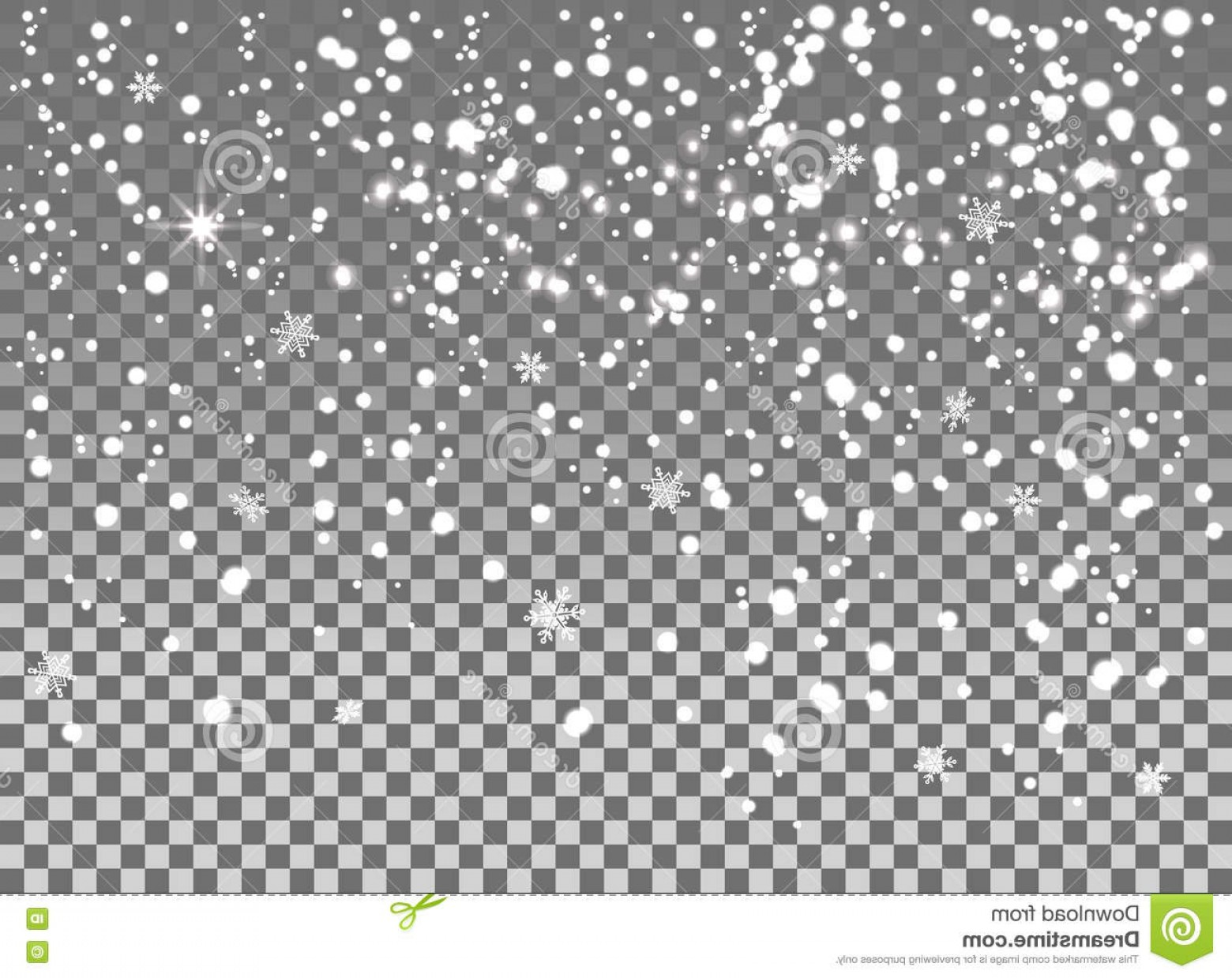 Snow Falling Vector Free: Stock Illustration Falling Snow Isolated Transparent Background Snowflakes Snowfall Celebration Banner Christmas New Year Winter Image