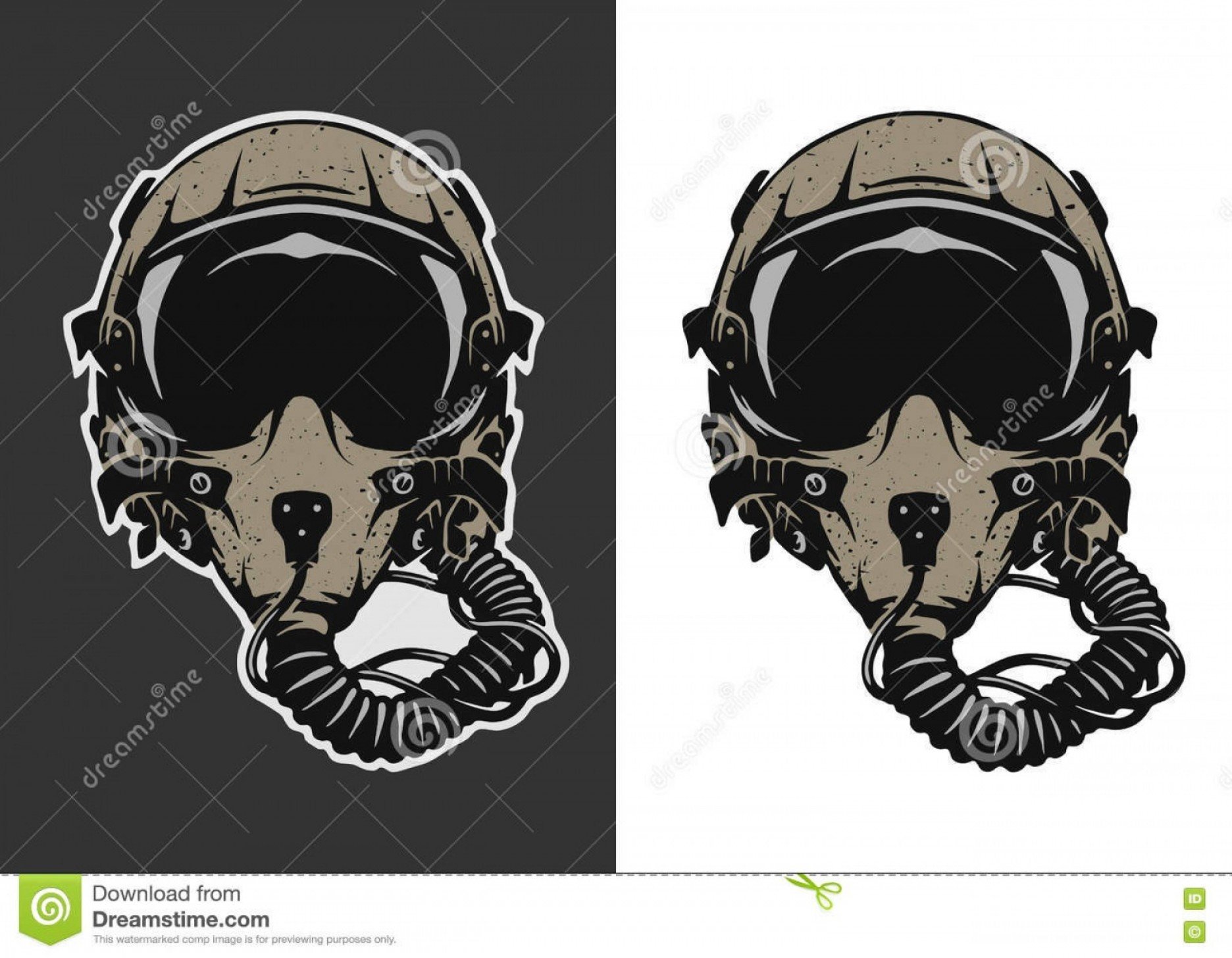 Fighter Helmet Vectors: Stock Illustration Fighter Pilot Helmet Dark White Background Vector Illustration Image