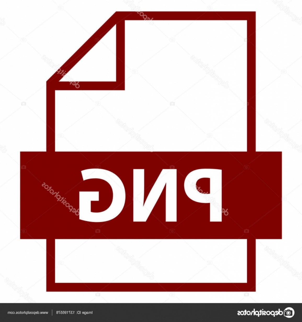 File Extension Vector Art: Stock Illustration File Name Extension Png Type