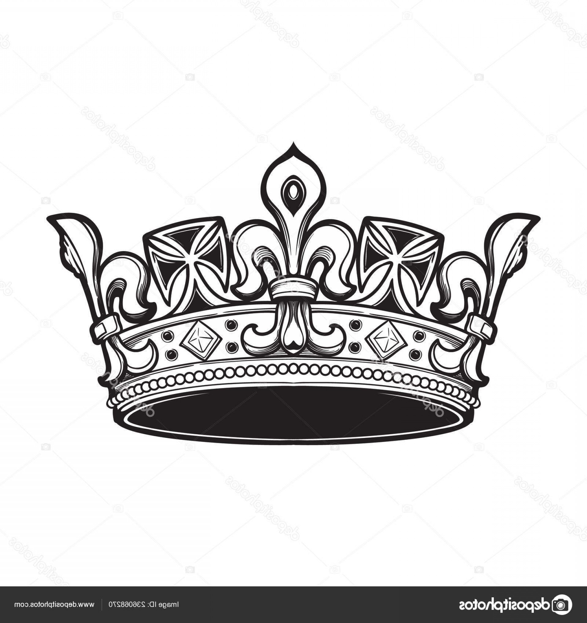 Detailed Tattoo Vector Images: Stock Illustration Filigree High Detailed Ducal Crown
