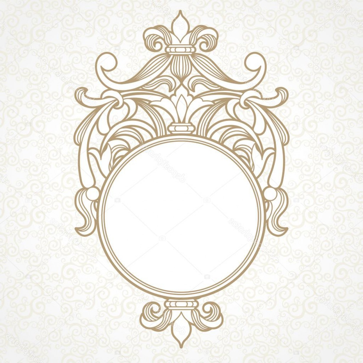 Filigree Oval Frame Vector: Stock Illustration Filigree Vector Frame In Victorian