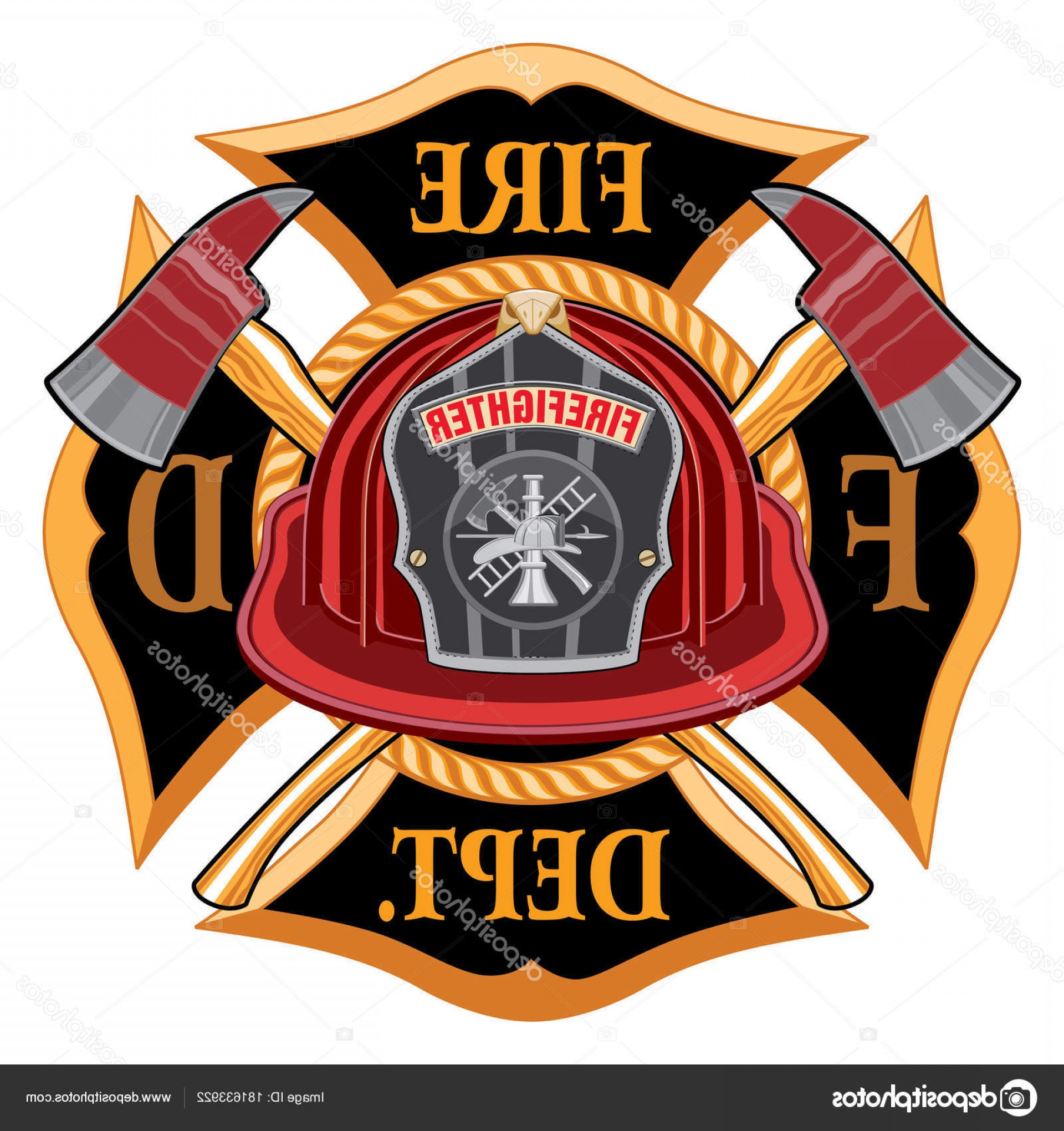 Fire Maltese Vector: Stock Illustration Fire Department Cross Vintage Red