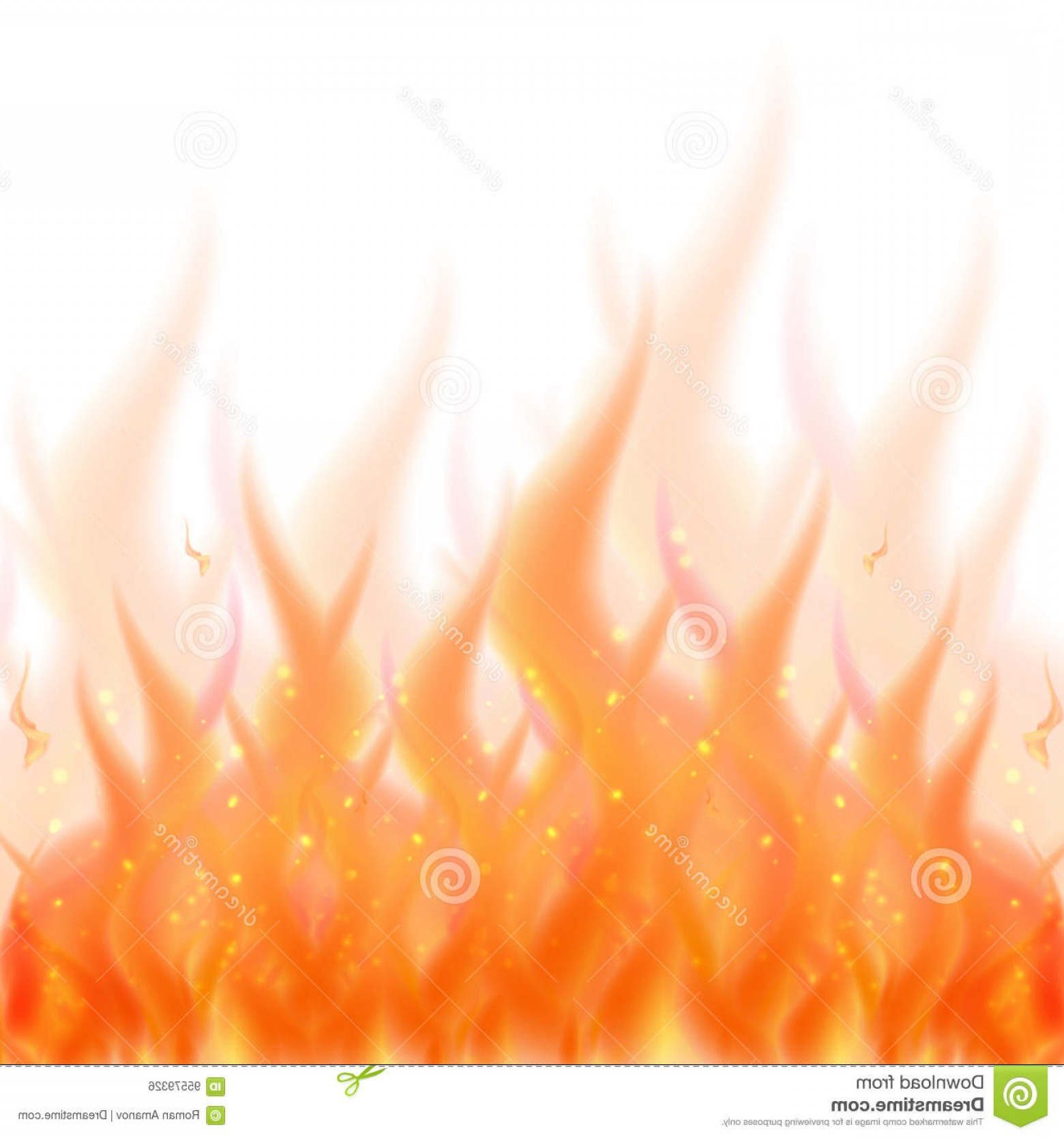 Vector Flame Stick Pattern: Stock Illustration Fire Flame Background Vector Illustration Burning Fire Isolated White Image