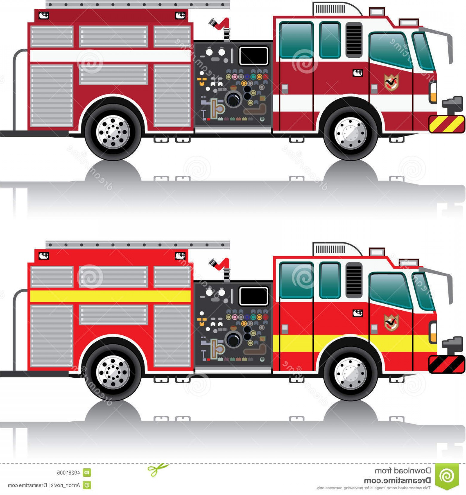 Fire Truck Vector Art: Stock Illustration Firetruck Vector Illustration Clip Art Eps File Image