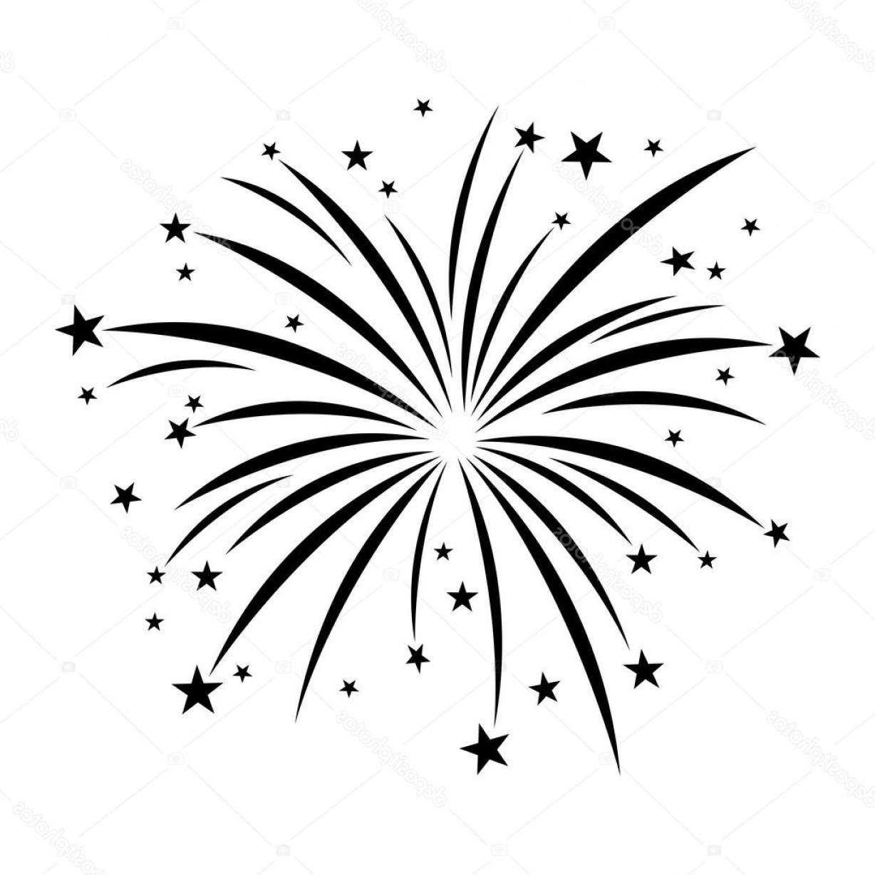 In Icon Stock Vector: Stock Illustration Fireworks Celebration Vector Icon