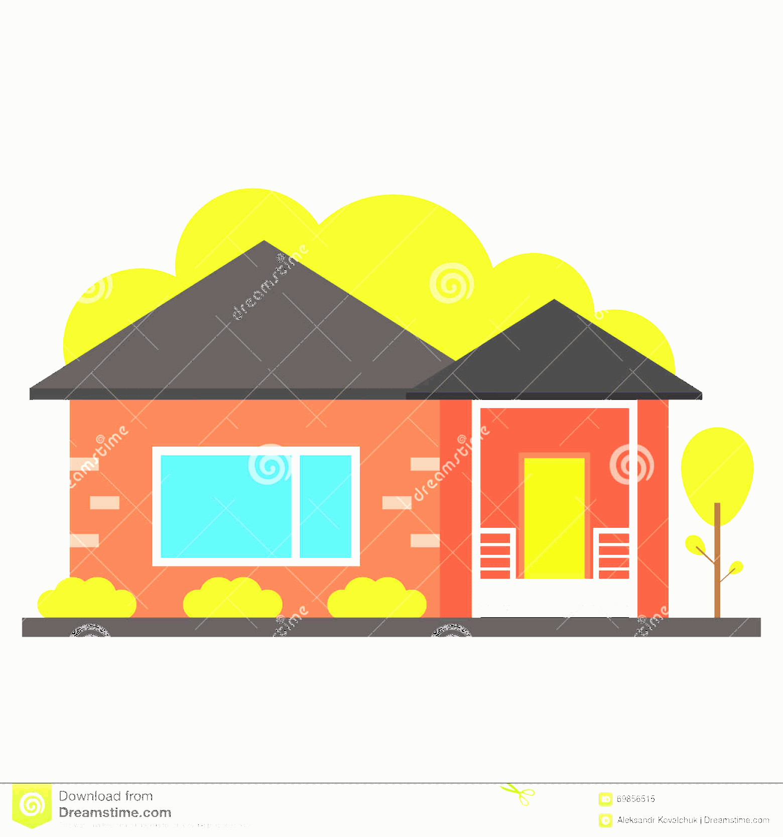Flat Vector House: Stock Illustration Flat House Icon Vector Image