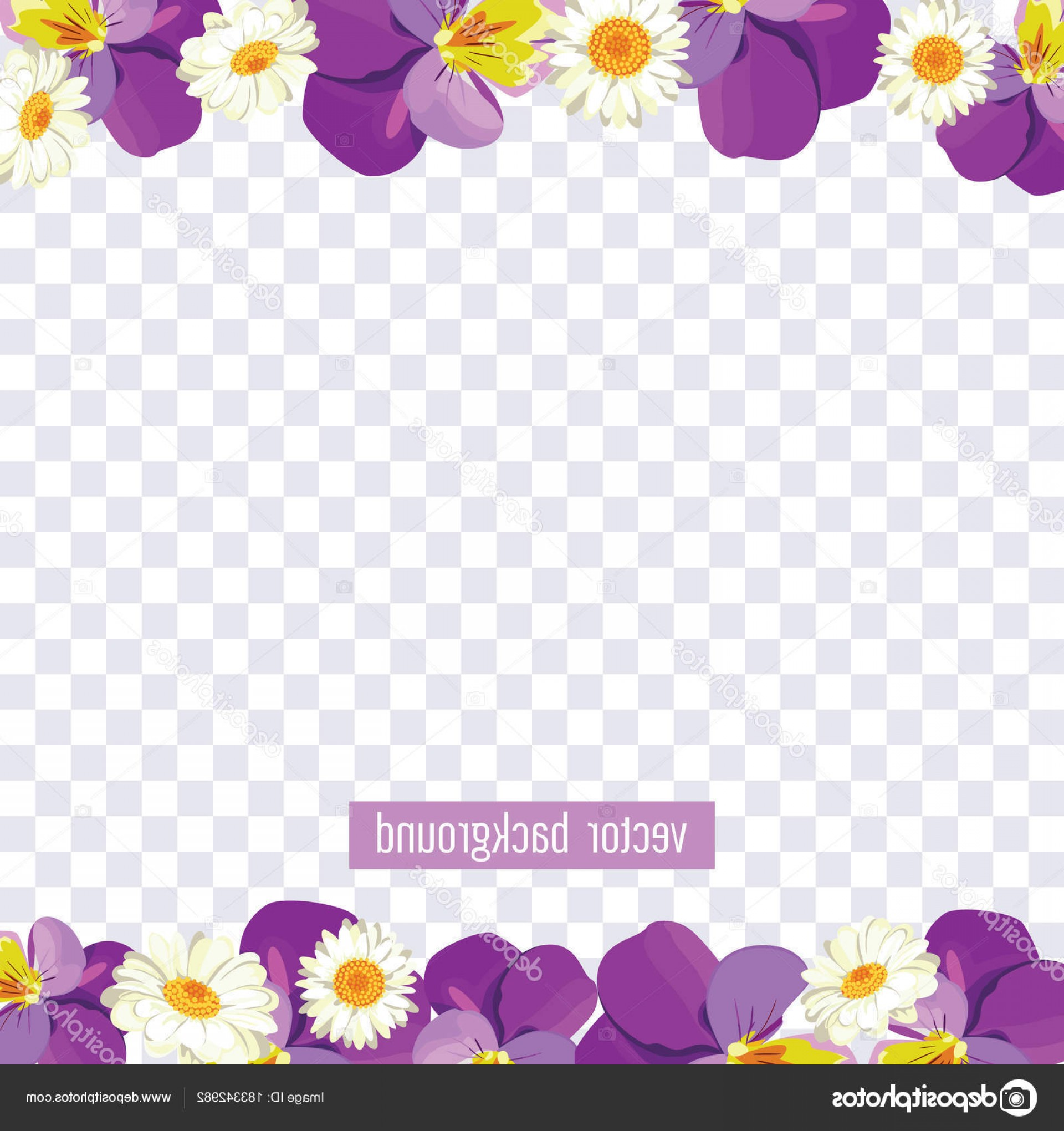 Vector Background Clip Art: Stock Illustration Floral Borders On Transparent Background