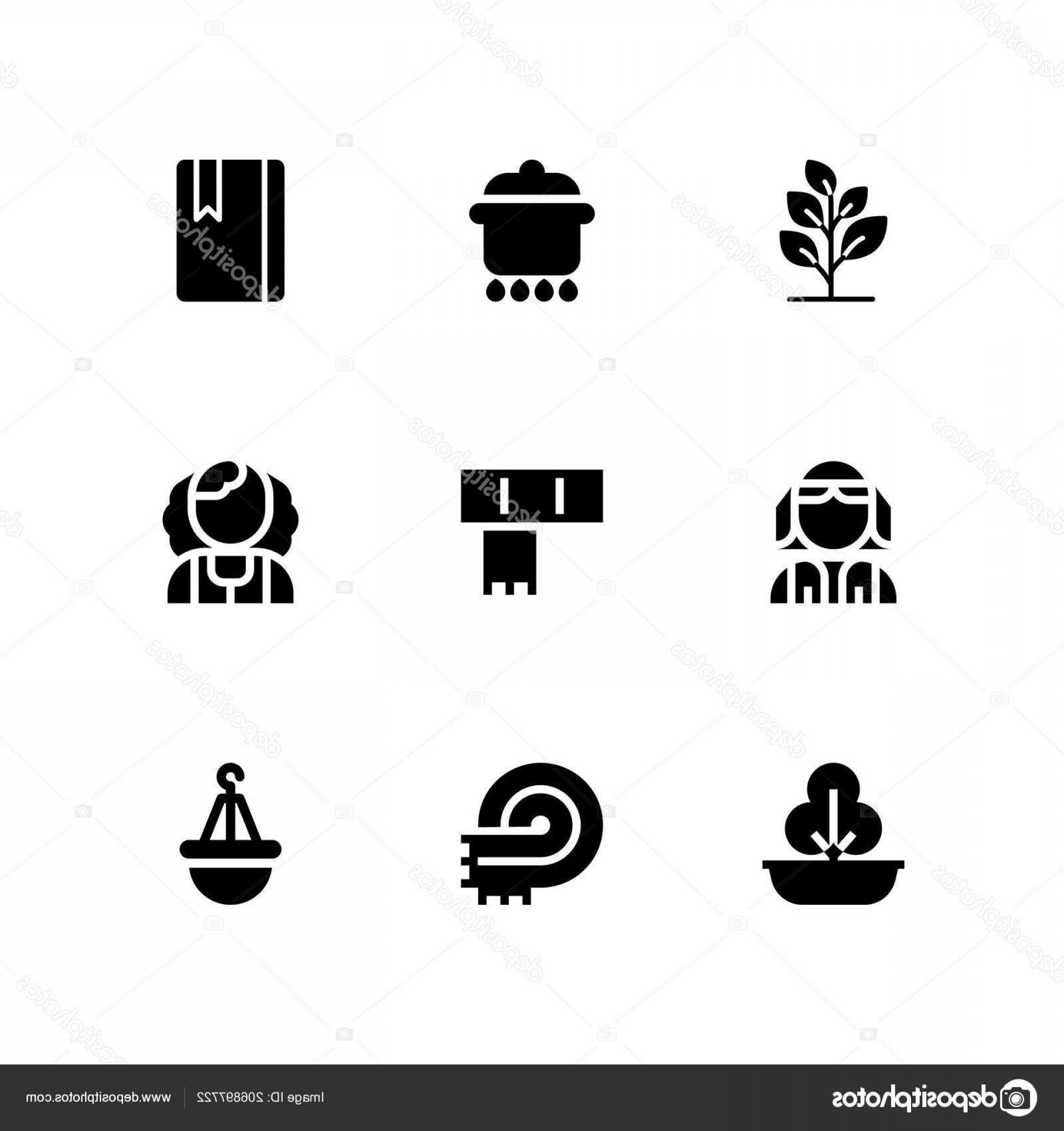 Floral Vector Icon: Stock Illustration Floral Icon Set Irish Pot