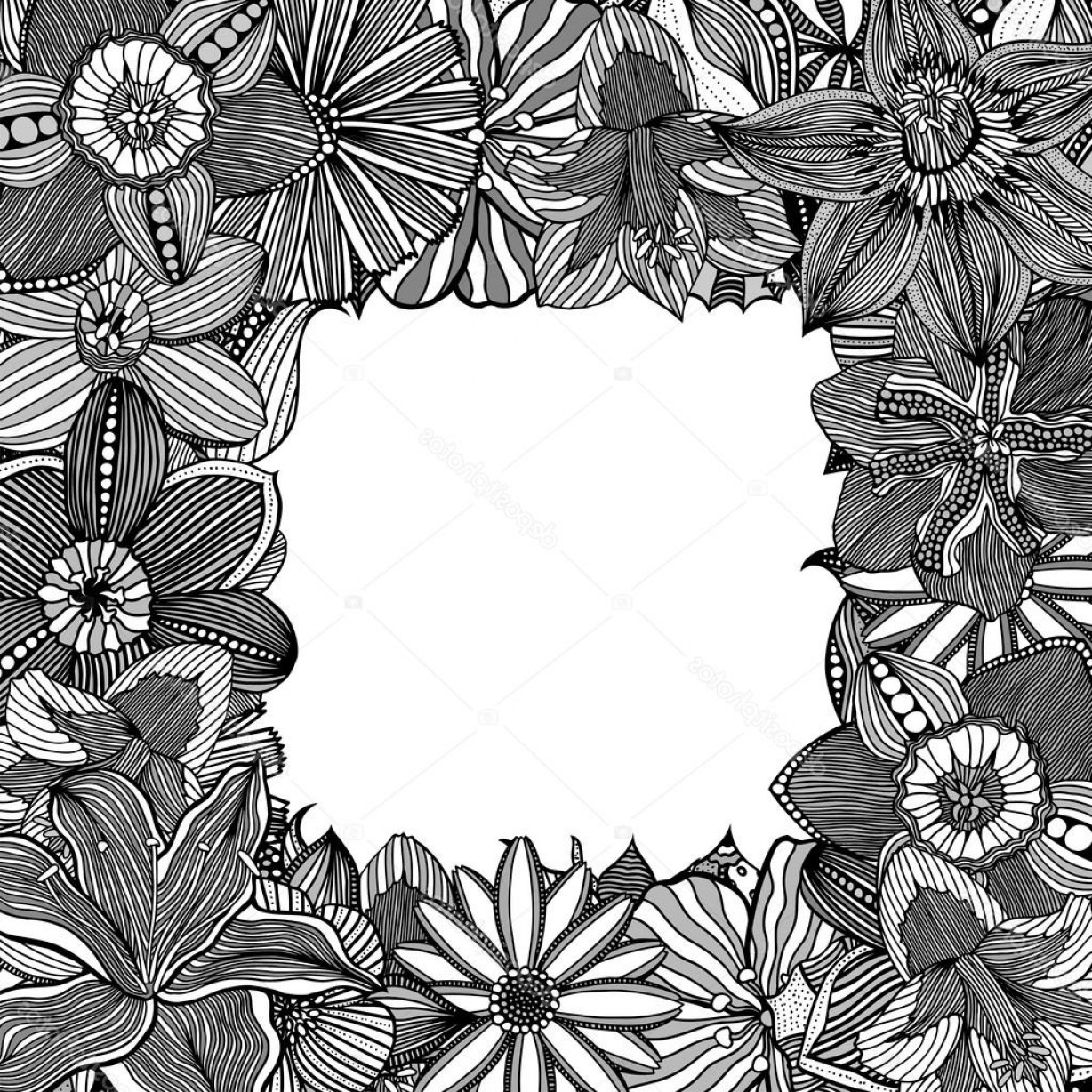 Zentangle Vector: Stock Illustration Floral Zentangle Vector Illustration