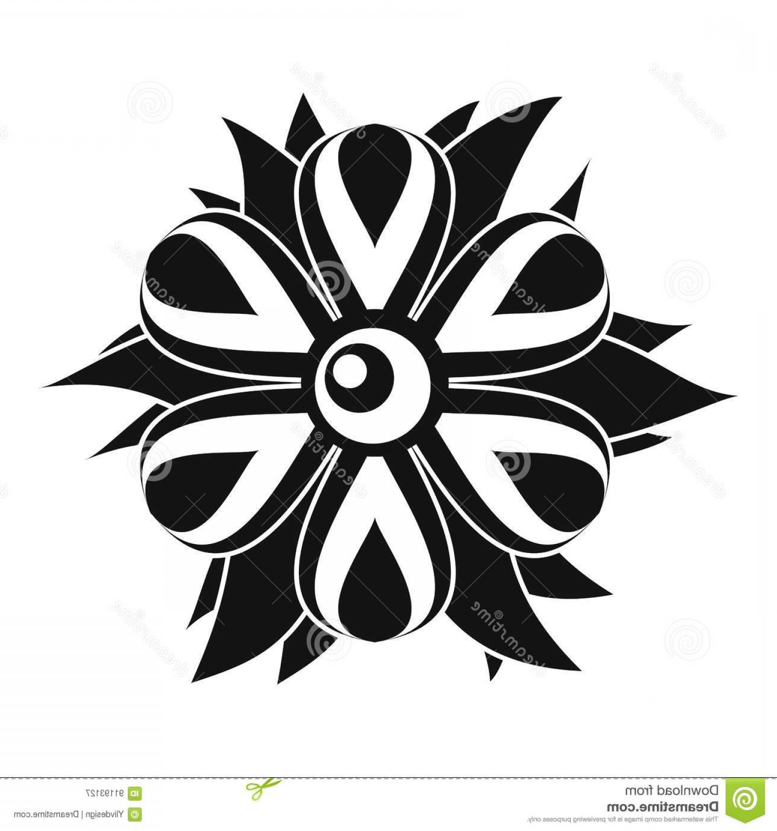 Simple Vector Daisy: Stock Illustration Flower Icon Simple Style Isolated White Background Vector Illustration Image
