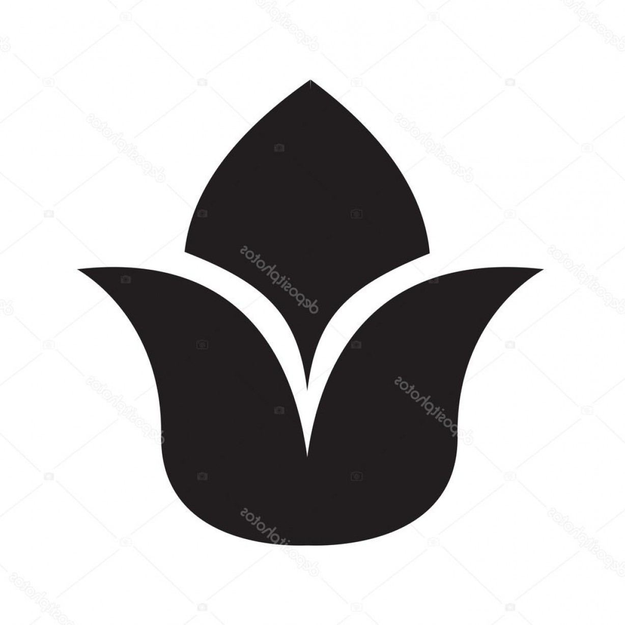 Icon Of Flower Vectors: Stock Illustration Flower Vector Icon Support Vectors