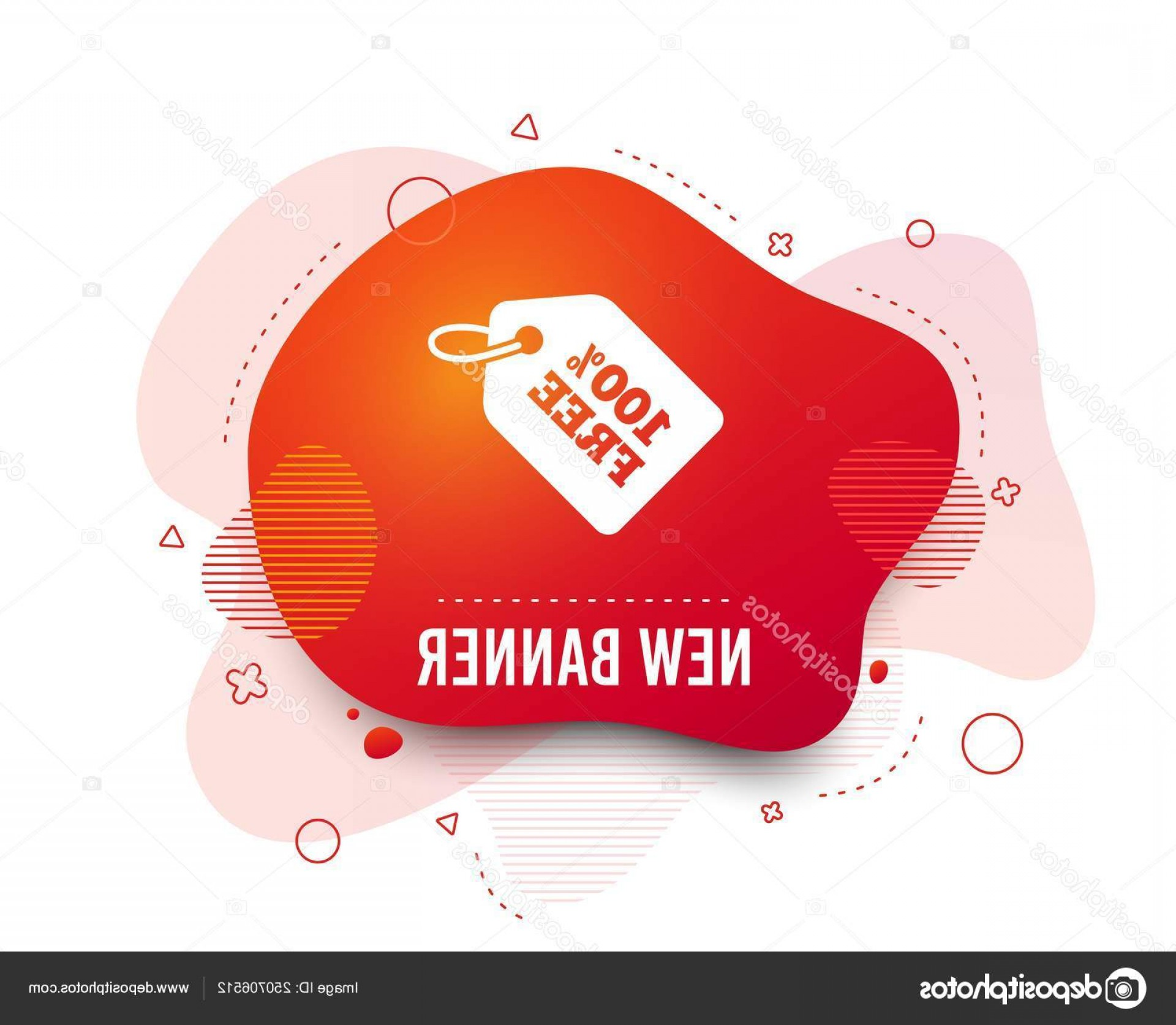 Vector Freebies: Stock Illustration Fluid Badge Free Tag Icon