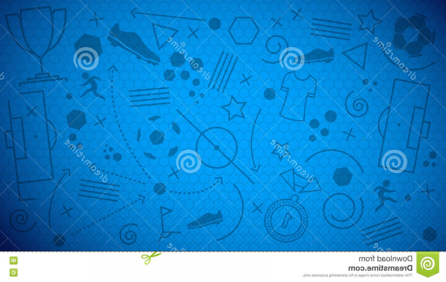Soccer Blue Background Vector Graphics: Stock Illustration Football Championship Background Vector Illustration Abstract Blue Soccer Different Icons Seamless Image