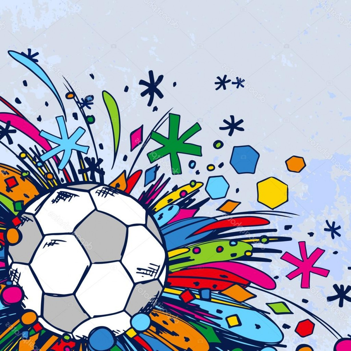 Football Vector Wallpaper: Stock Illustration Football Doodle Ornament Soccer Background