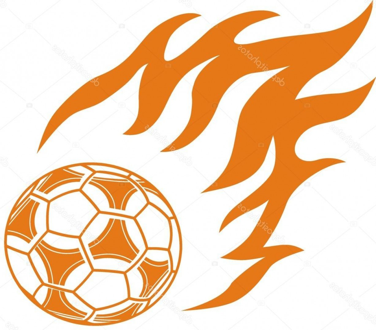 Tribal Football Vector Art: Stock Illustration Football With Flame On Tribal