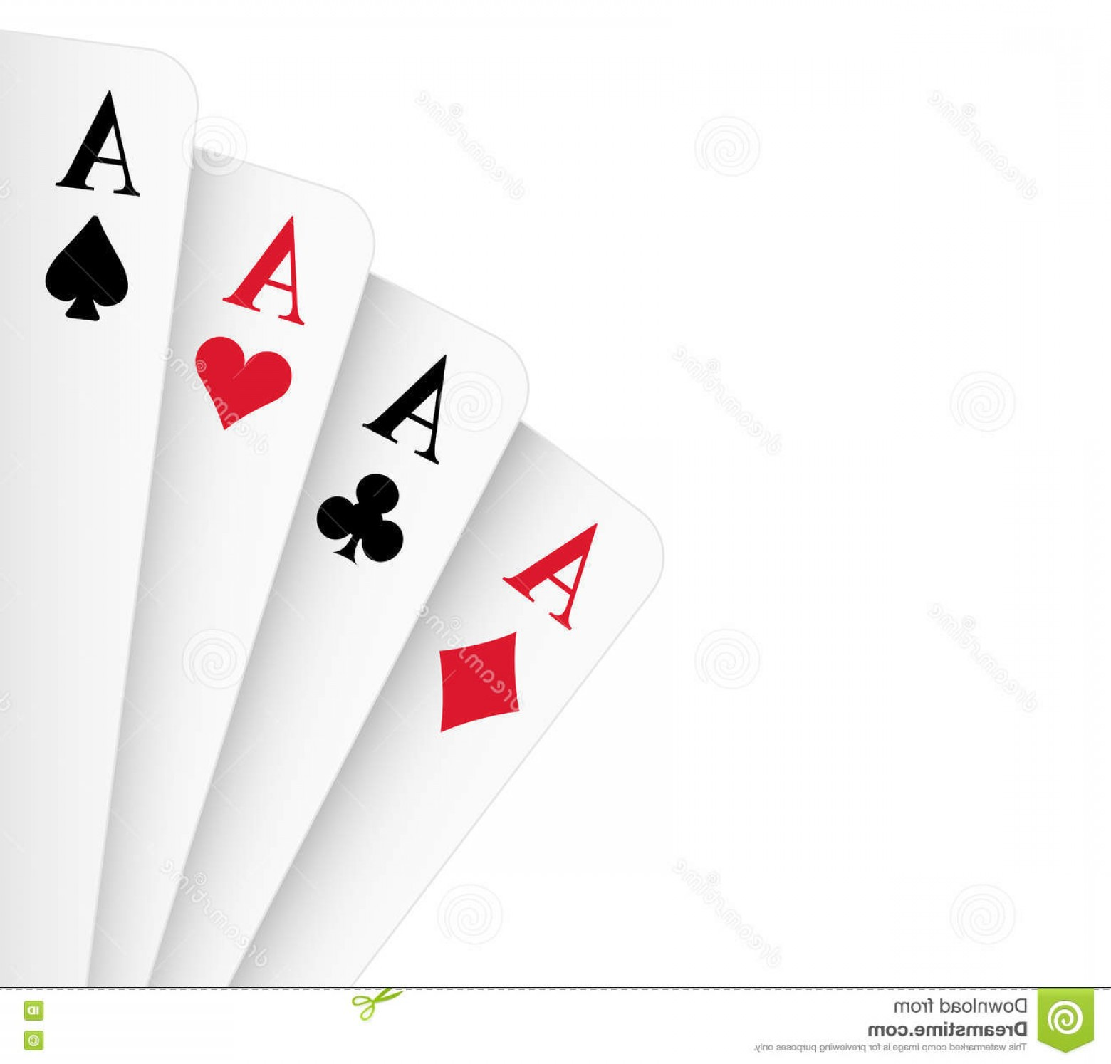 Poker Hand Vector: Stock Illustration Four Aces Poker Hand Kind Vector Illustration Image